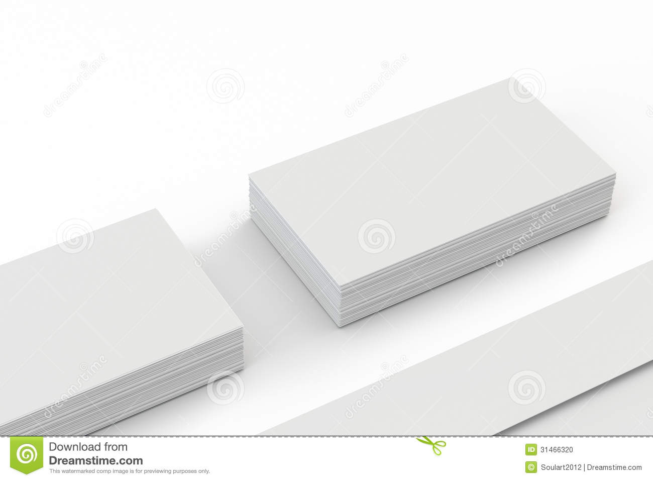 Blank envelopes and business card on white stock illustration blank envelopes and business card on white with soft shadows closer view reheart Gallery