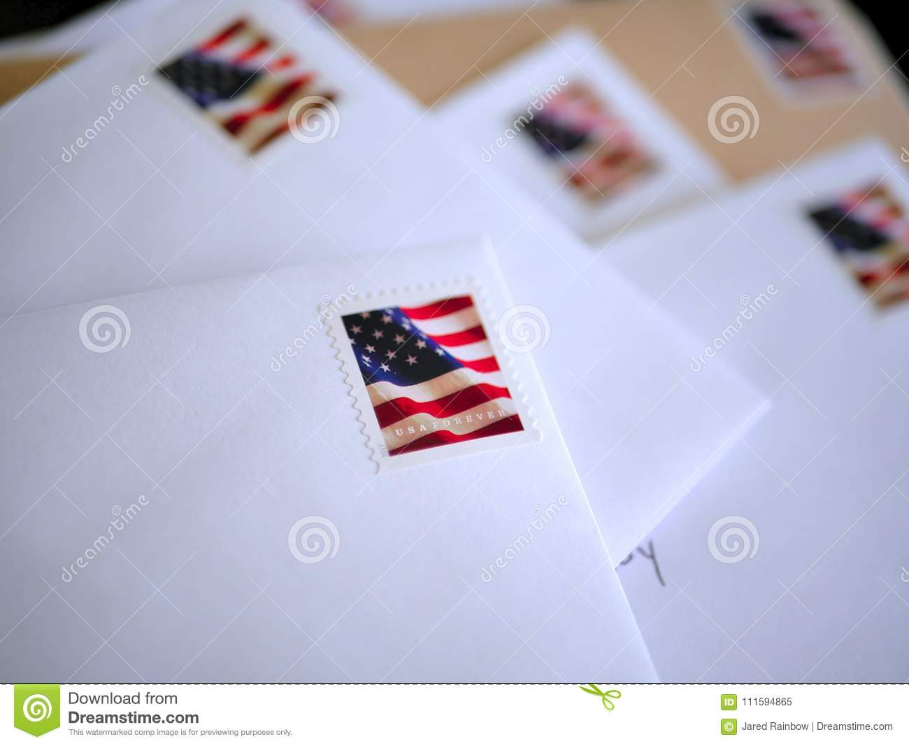 e0991bb771c7 Blank envelopes and stationery with red white and blue american flag stamps