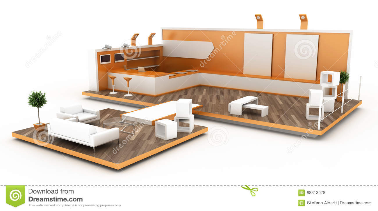 Exhibition Booth Floor Plan : Blank exhibition booth stock illustration illustration of point