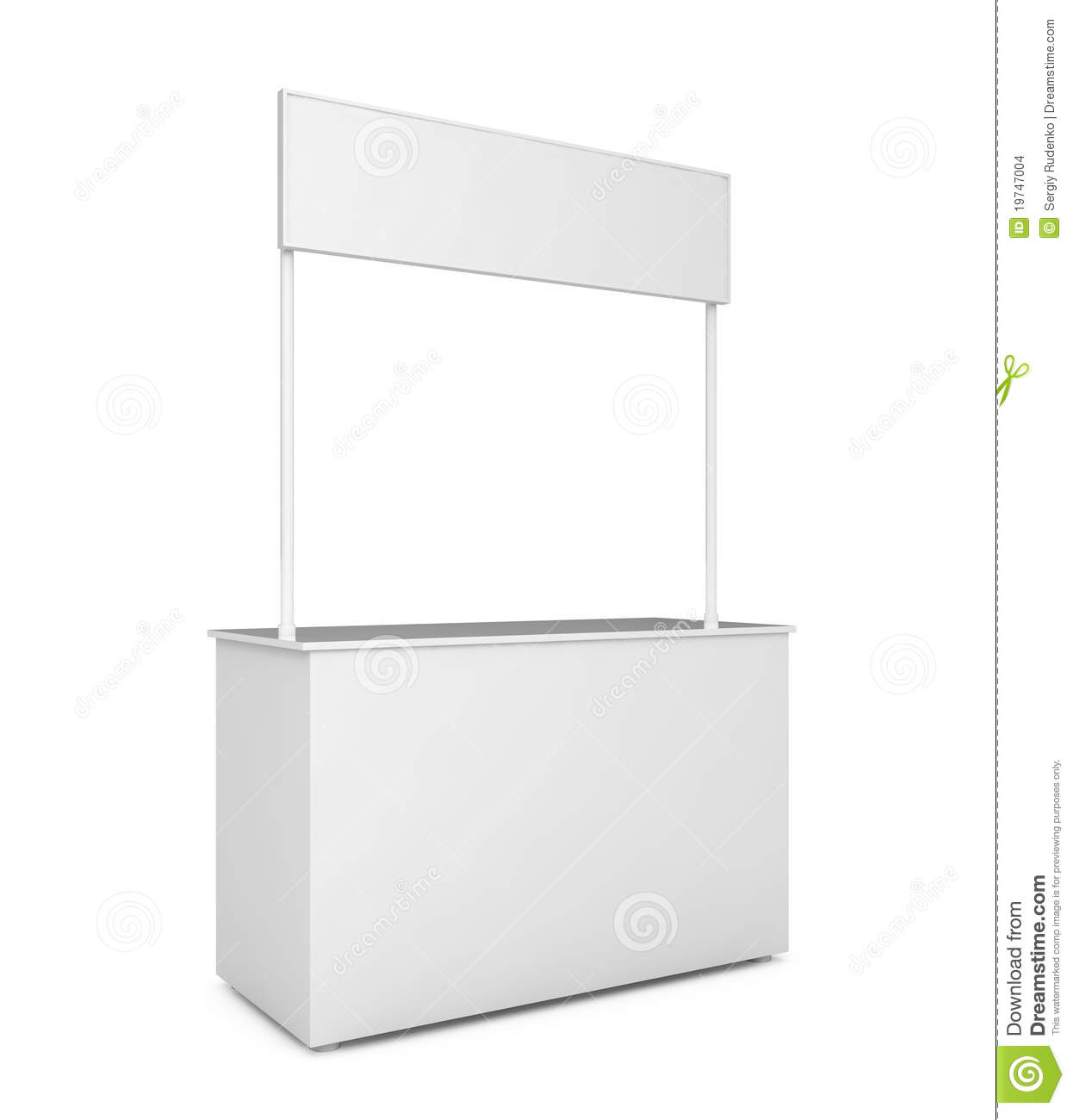 Blank Exhibition Stand Vector : Blank exhibition stand isolated on white stock images