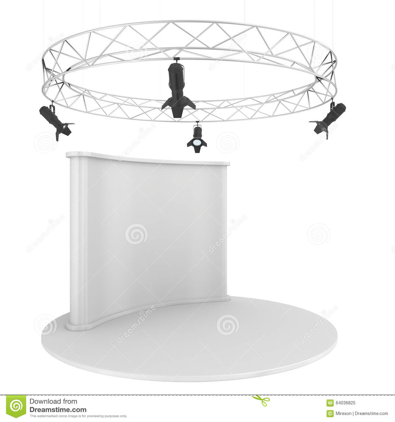 Exhibition Stand Wallpaper : Blank exhibition stand isolated on white stock photo