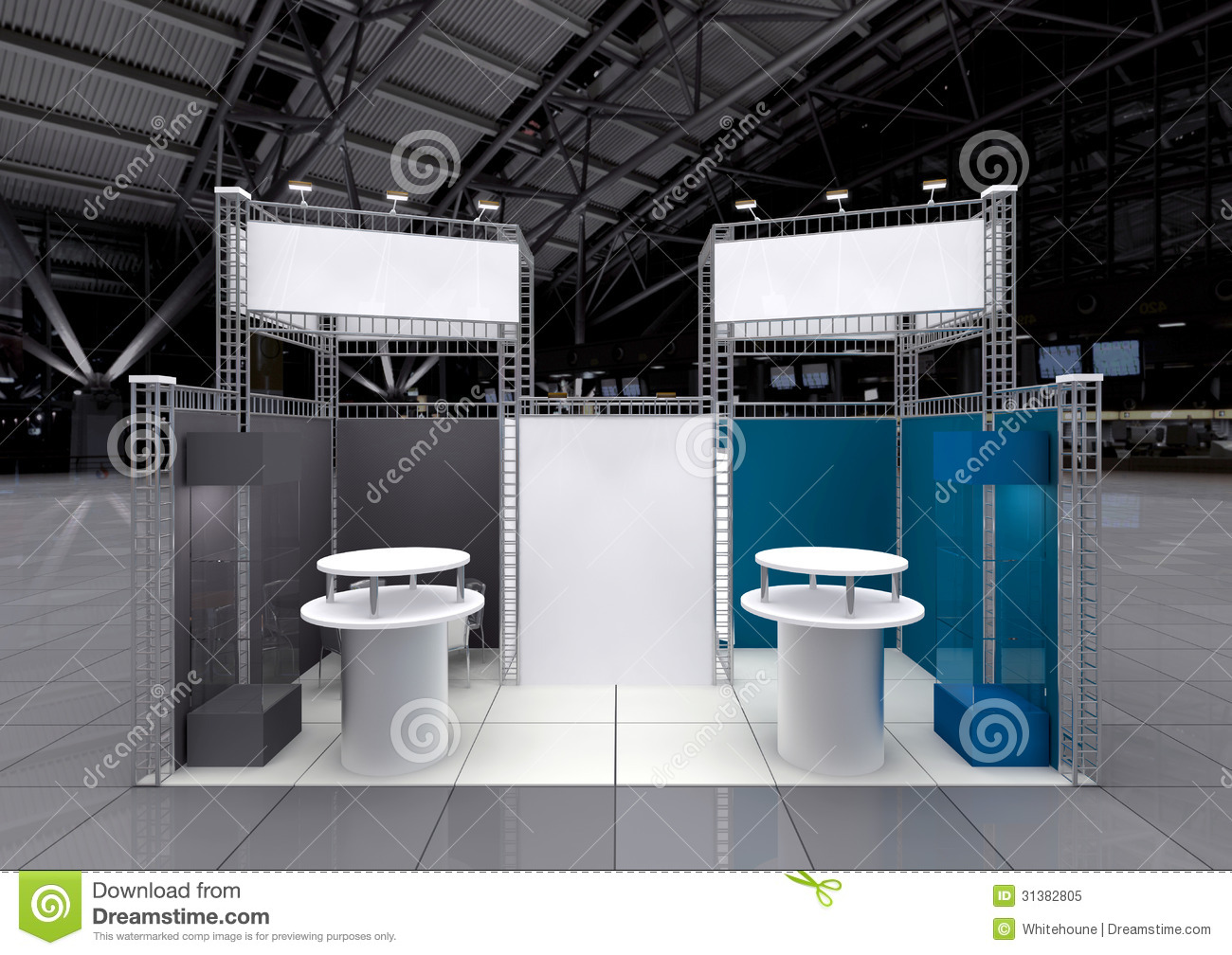 Modern Exhibition Stand : Blank exhibition stand royalty free stock photo image
