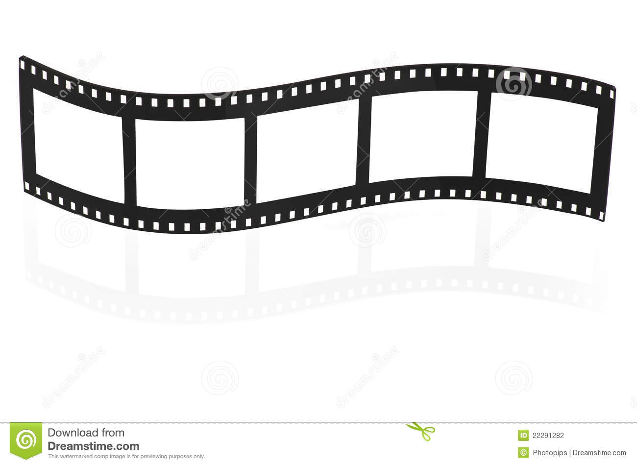 Blank film strip stock photo image of screen blank for Printable film strip template