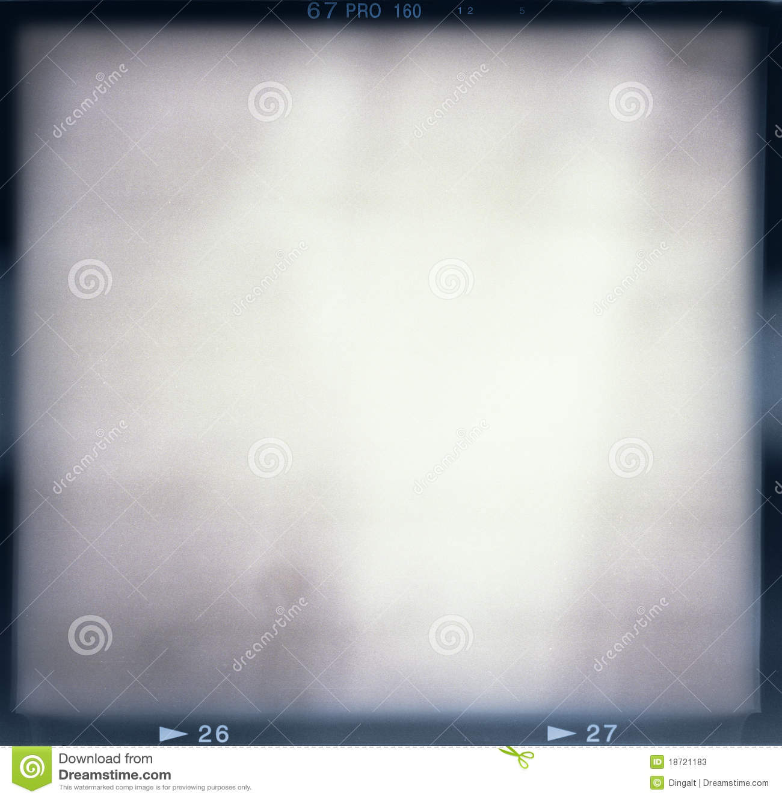 Blank filmram