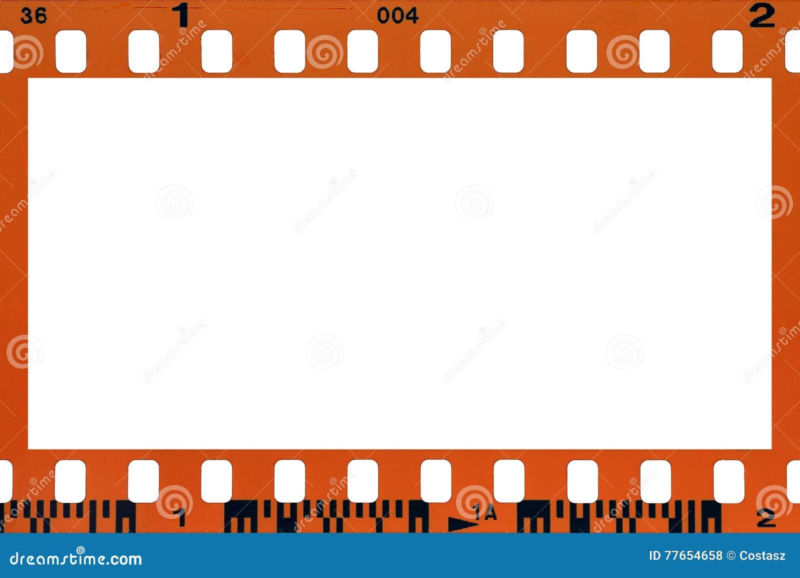 Blank filmstrip