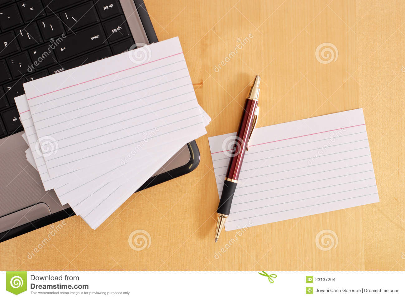 Blank Flash Cards Stock Images Image 23137204