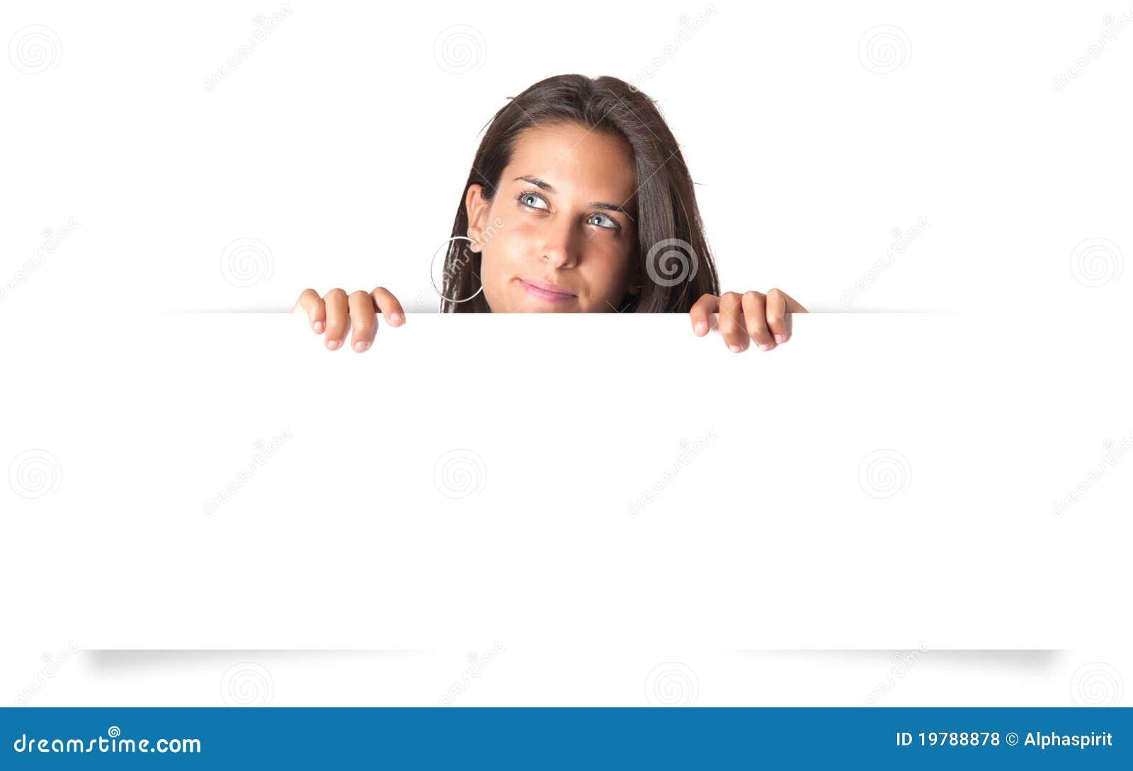 Blank flickaholding för baner