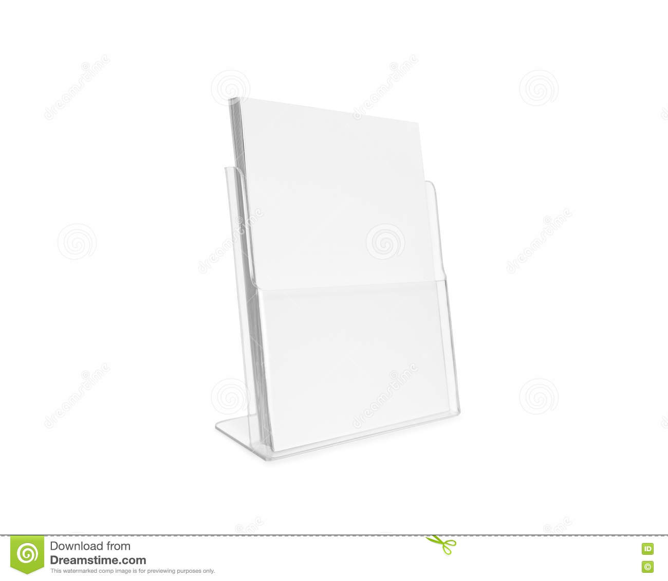 Blank flyer mockup glass plastic transparent holder for Cardboard brochure holder template