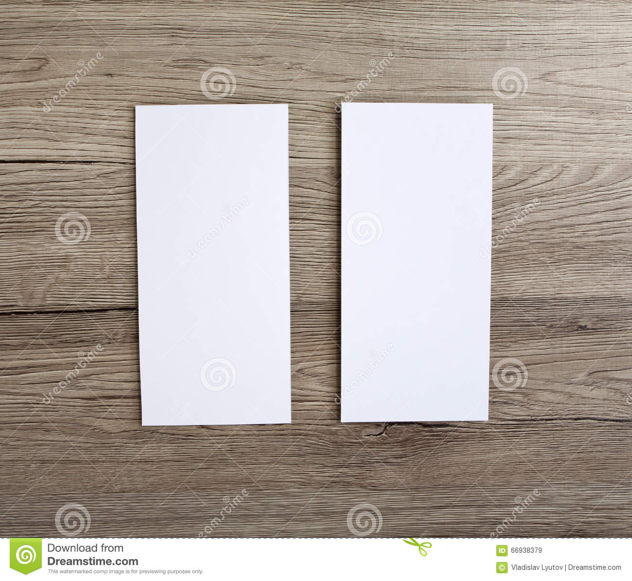Blank flyer over wooden background to replace your design.