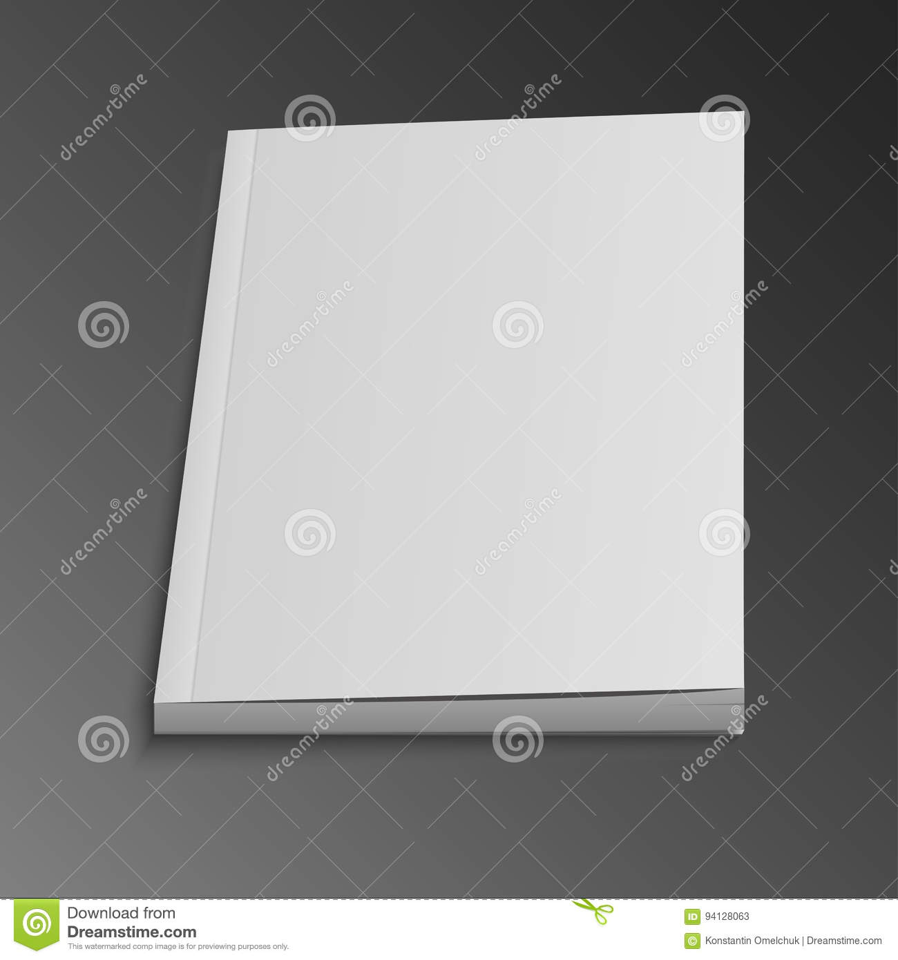 blank open magazine or book  mock up template ready for your design vector illustration