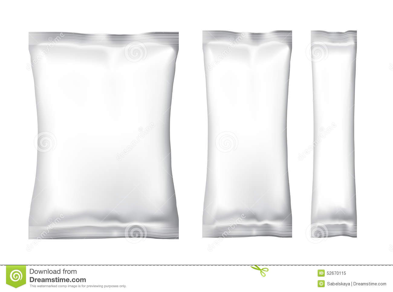 blank foil food snack stock vector  image of little  pack