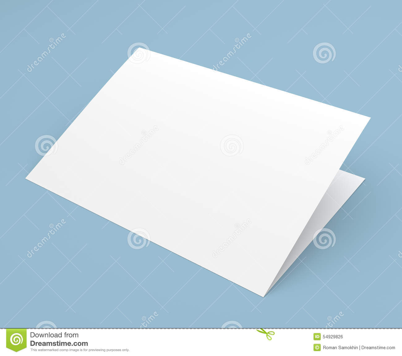 blank folded flyer booklet postcard business card or brochure