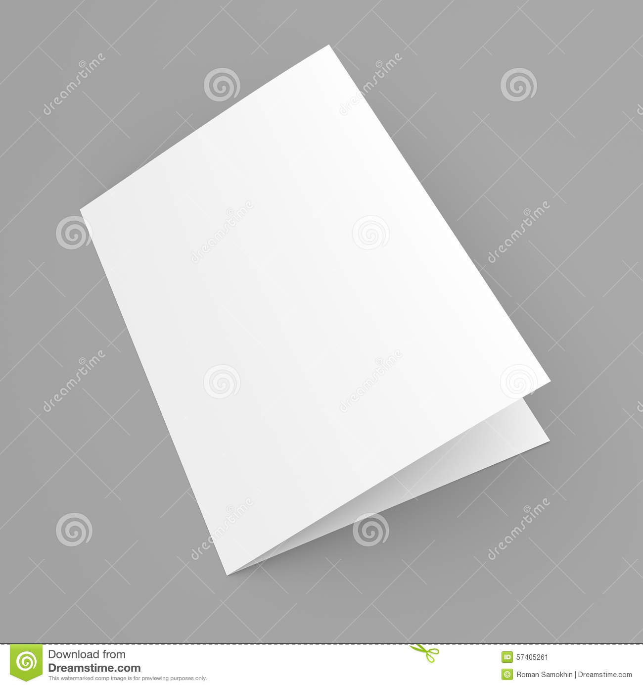 blank folded flyer  booklet  postcard  business card or