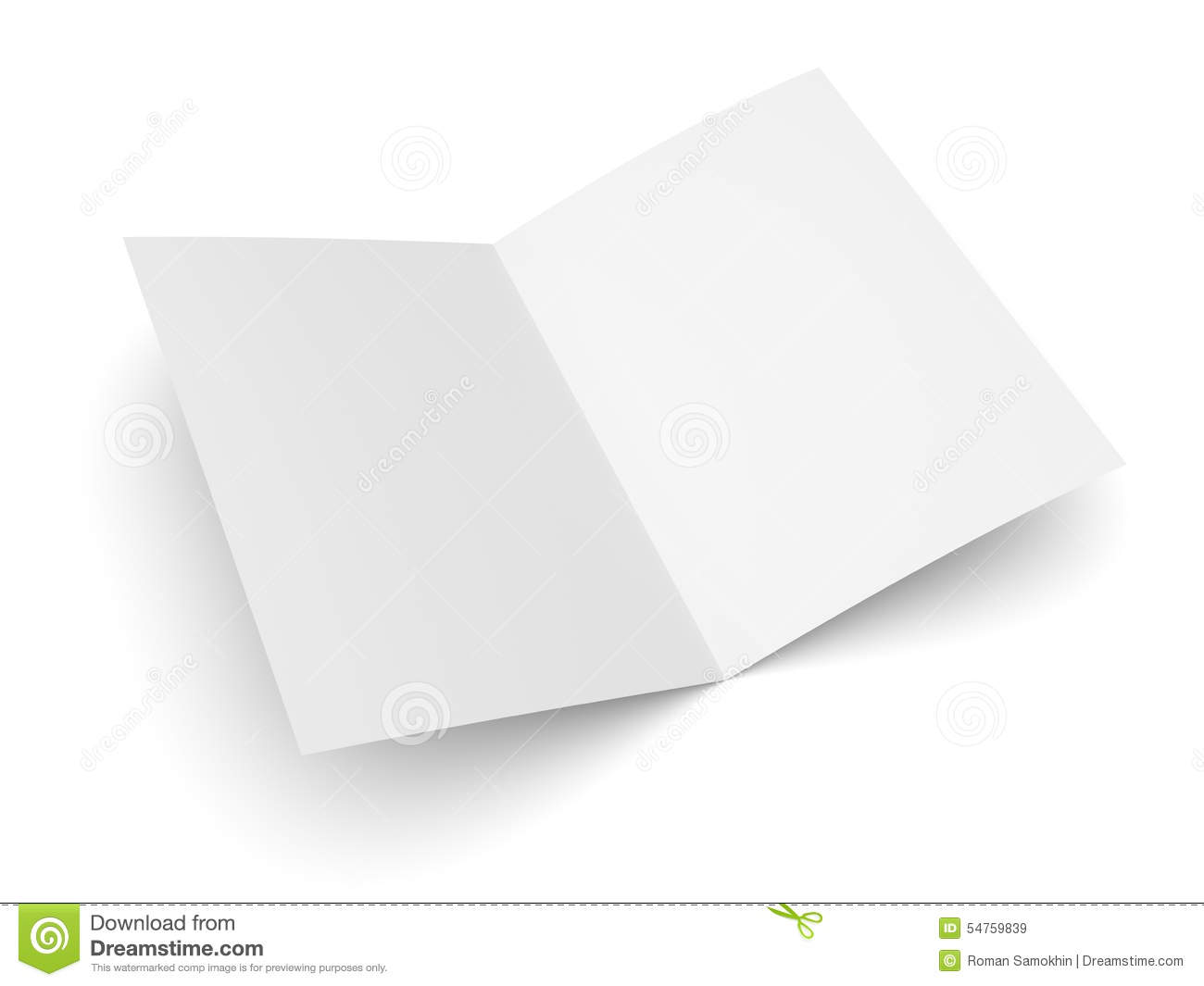 Blank folded flyer booklet or brochure mockup stock for Foldable booklet template