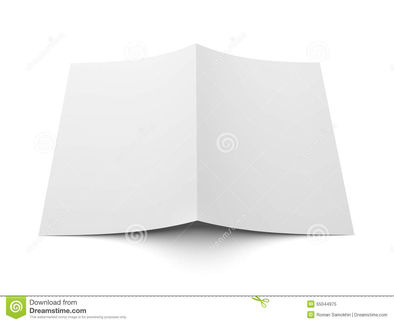 Folded coupon business card template