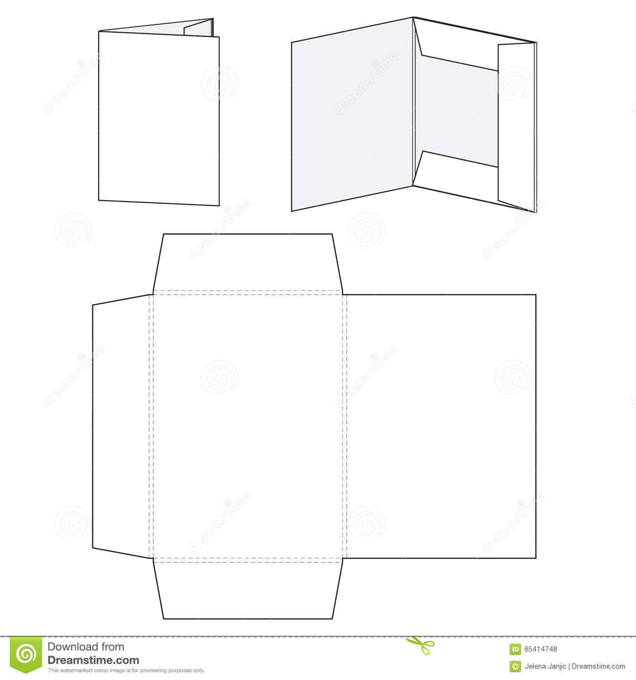 Blank Vector Calendar Template : Blank folder template stock vector illustration of