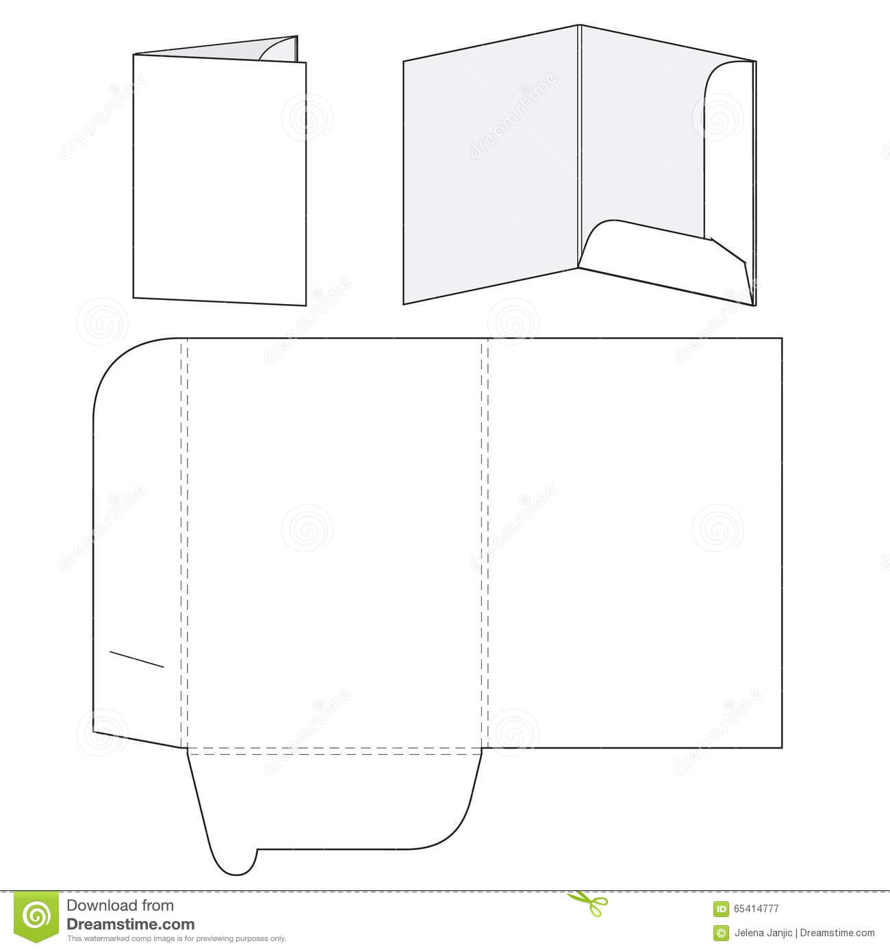 pocket folder template illustrator - blank folder template stock vector illustration of