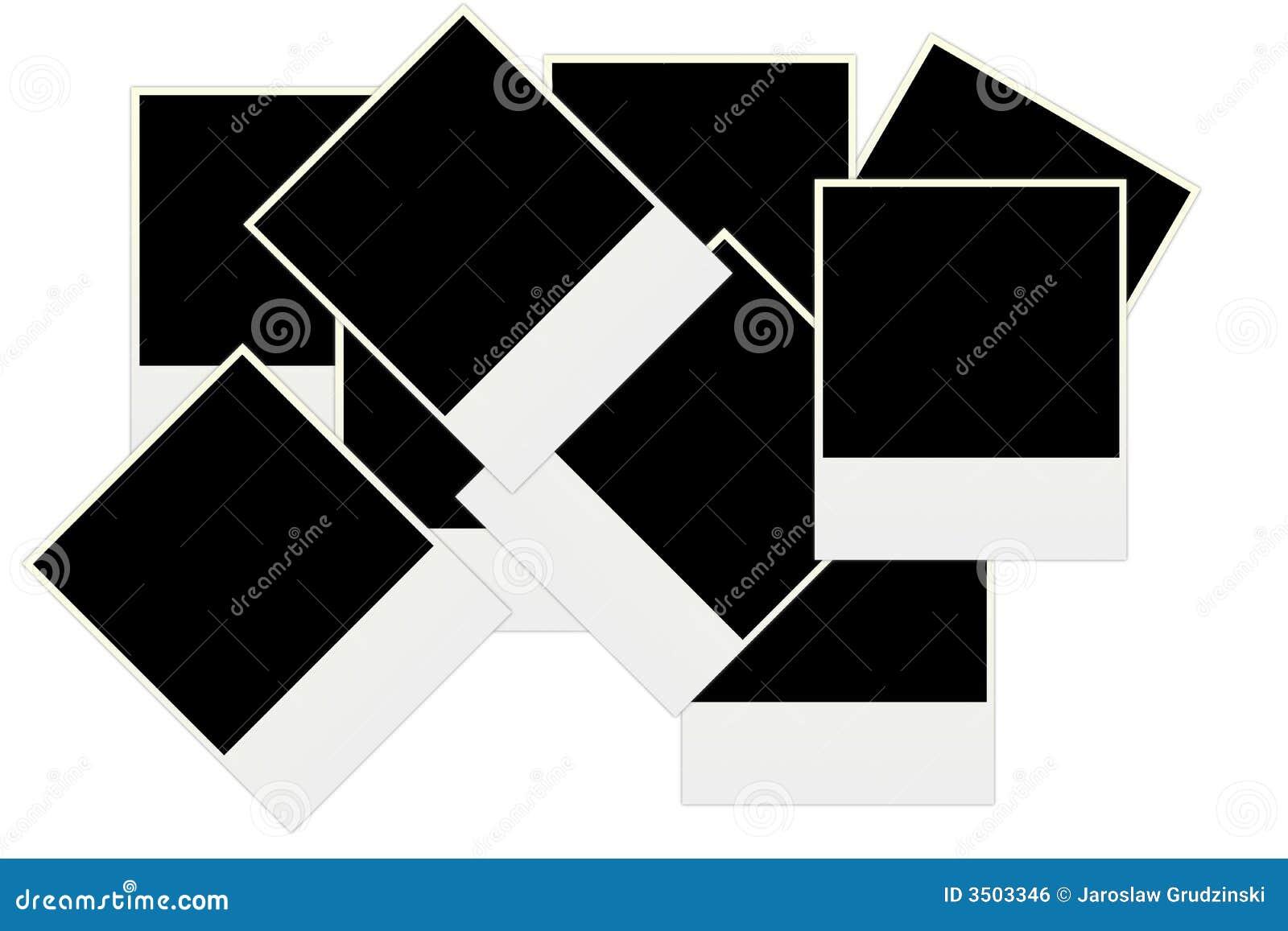Blank fotopolaroid
