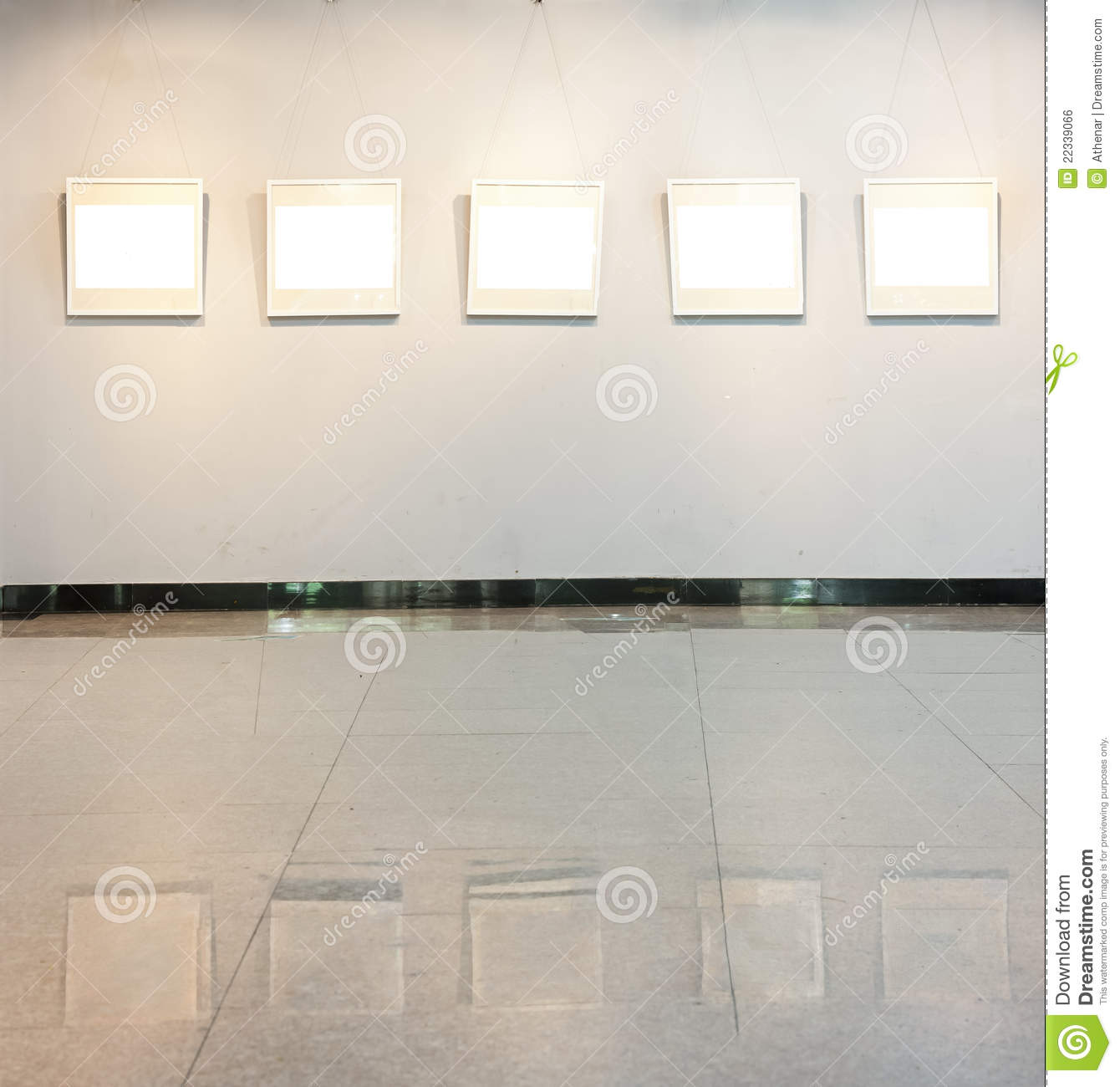 Royalty free stock image blank frame on the wall at art gallery