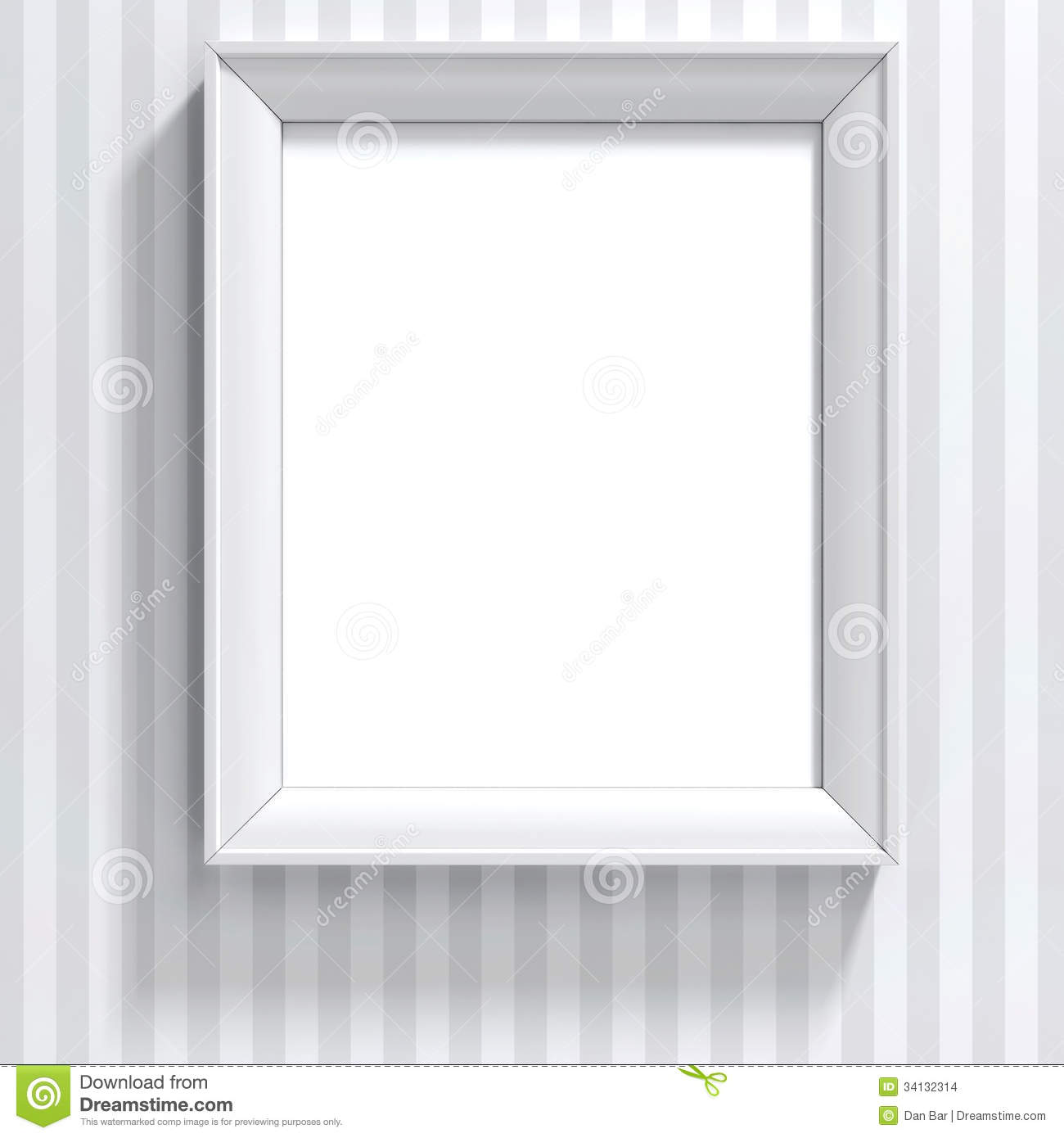 Blank frame on white wall stock images image 34132314 - White wall picture frames ...