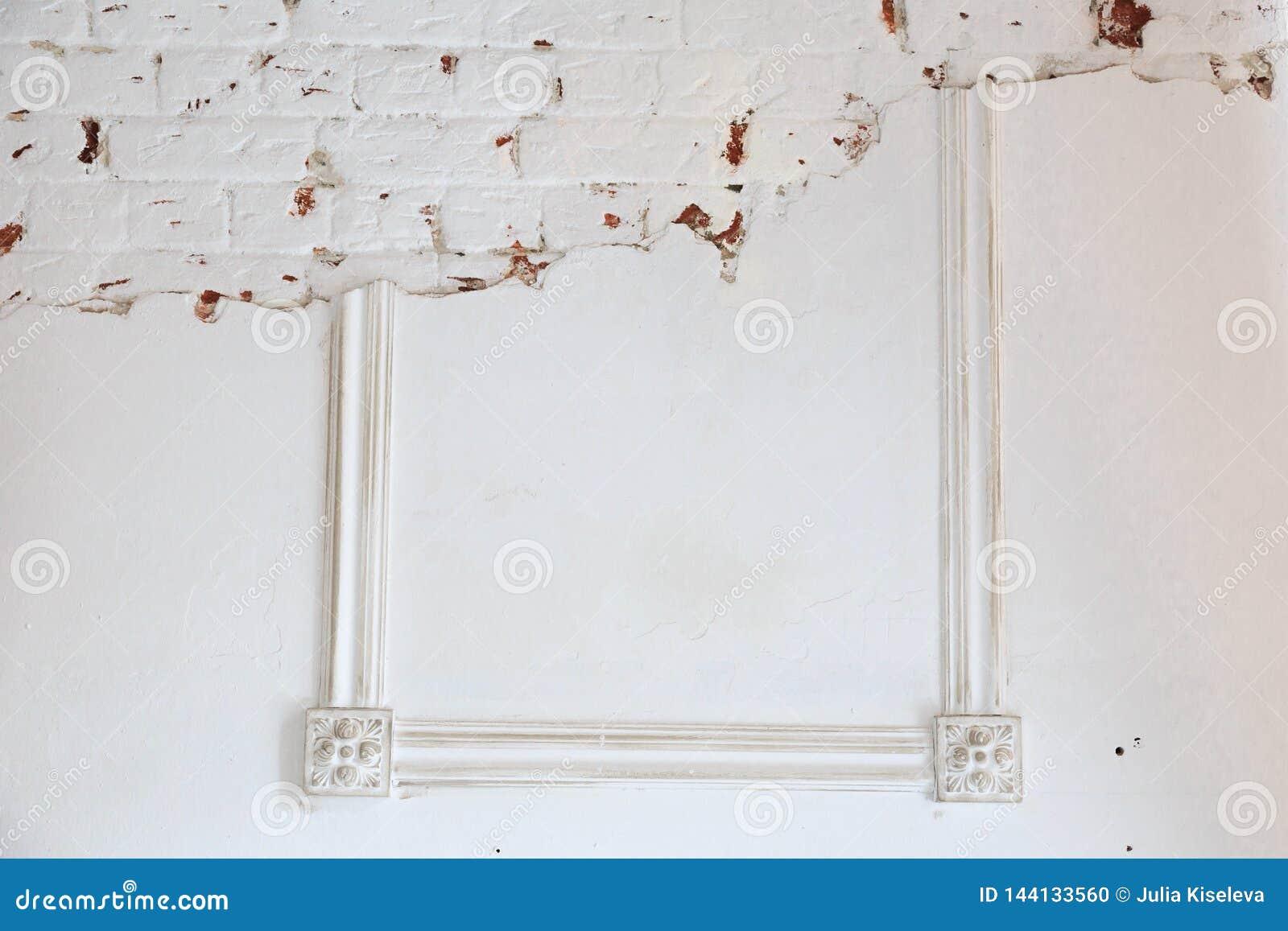 Blank frame on white wall  stock photo  Image of cake