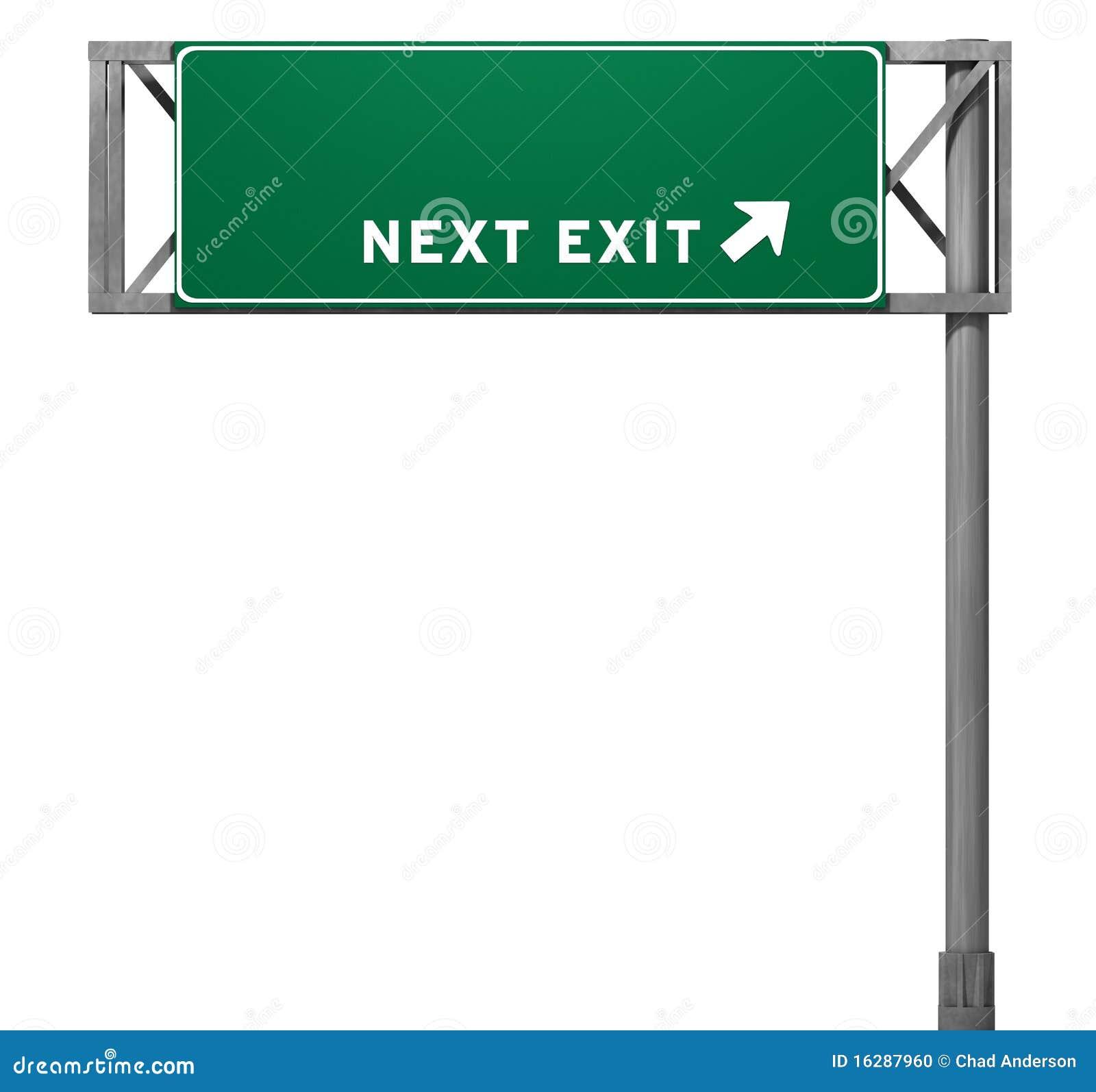 blank freeway exit sign stock illustration illustration