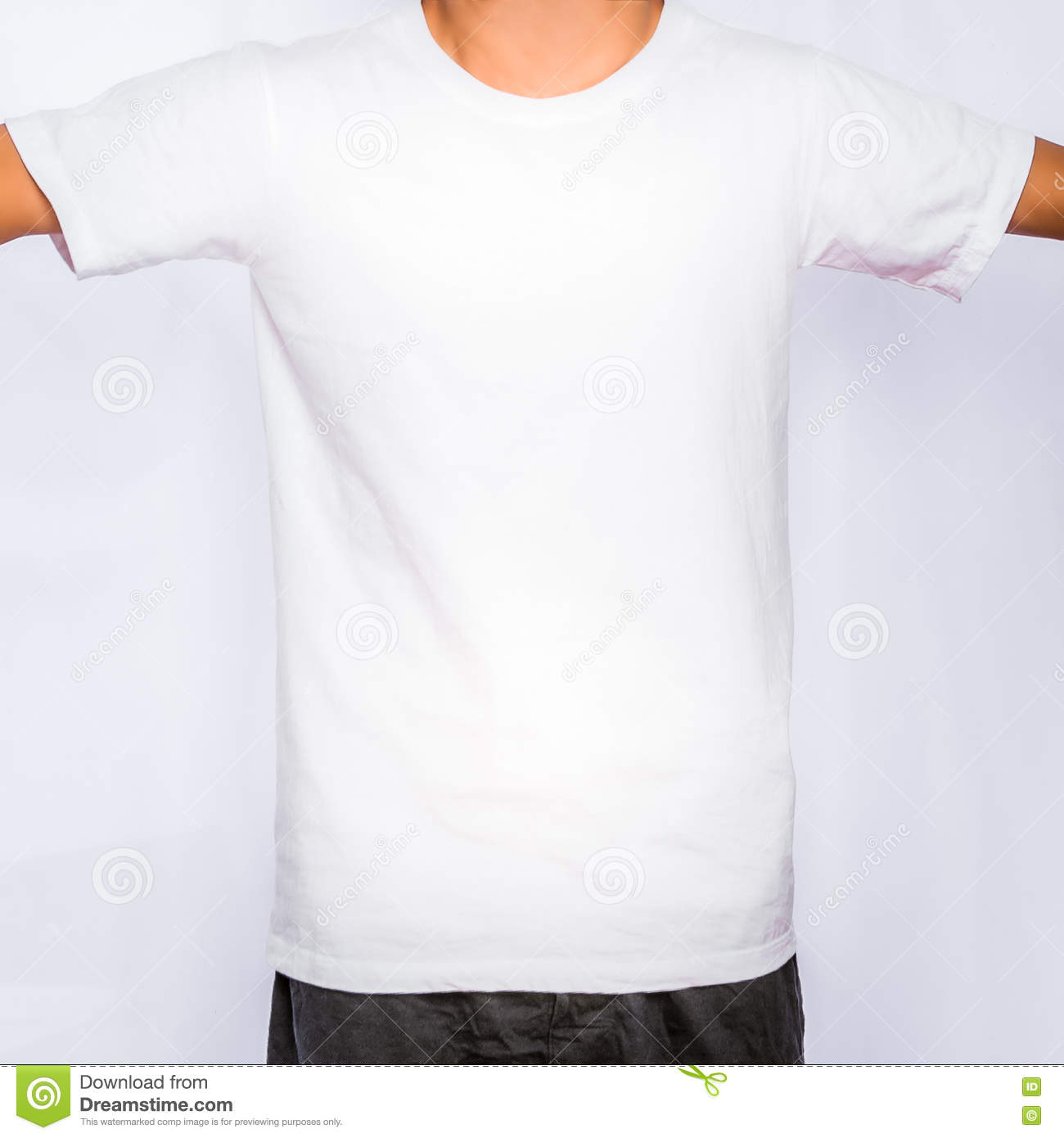 T shirt white mockup - Blank Design Front Mockup Shirt Template White