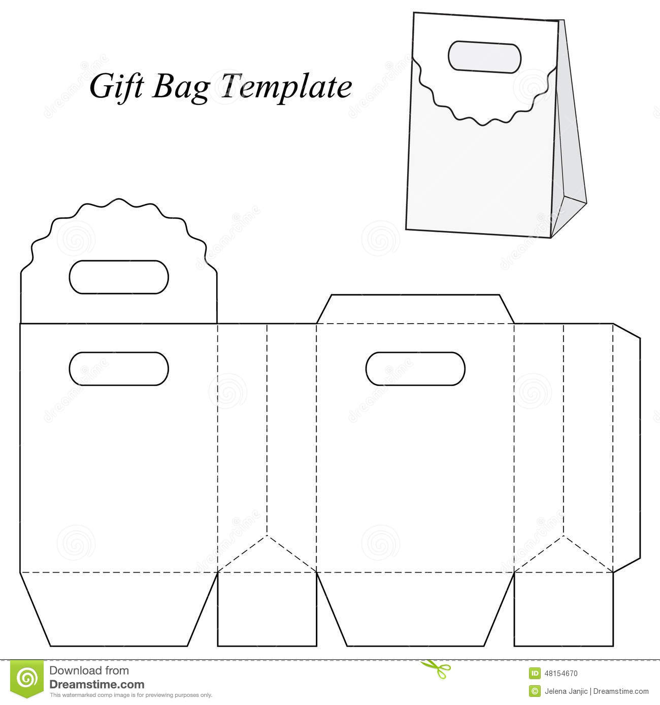 blank gift bag template stock vector illustration of cosmetics