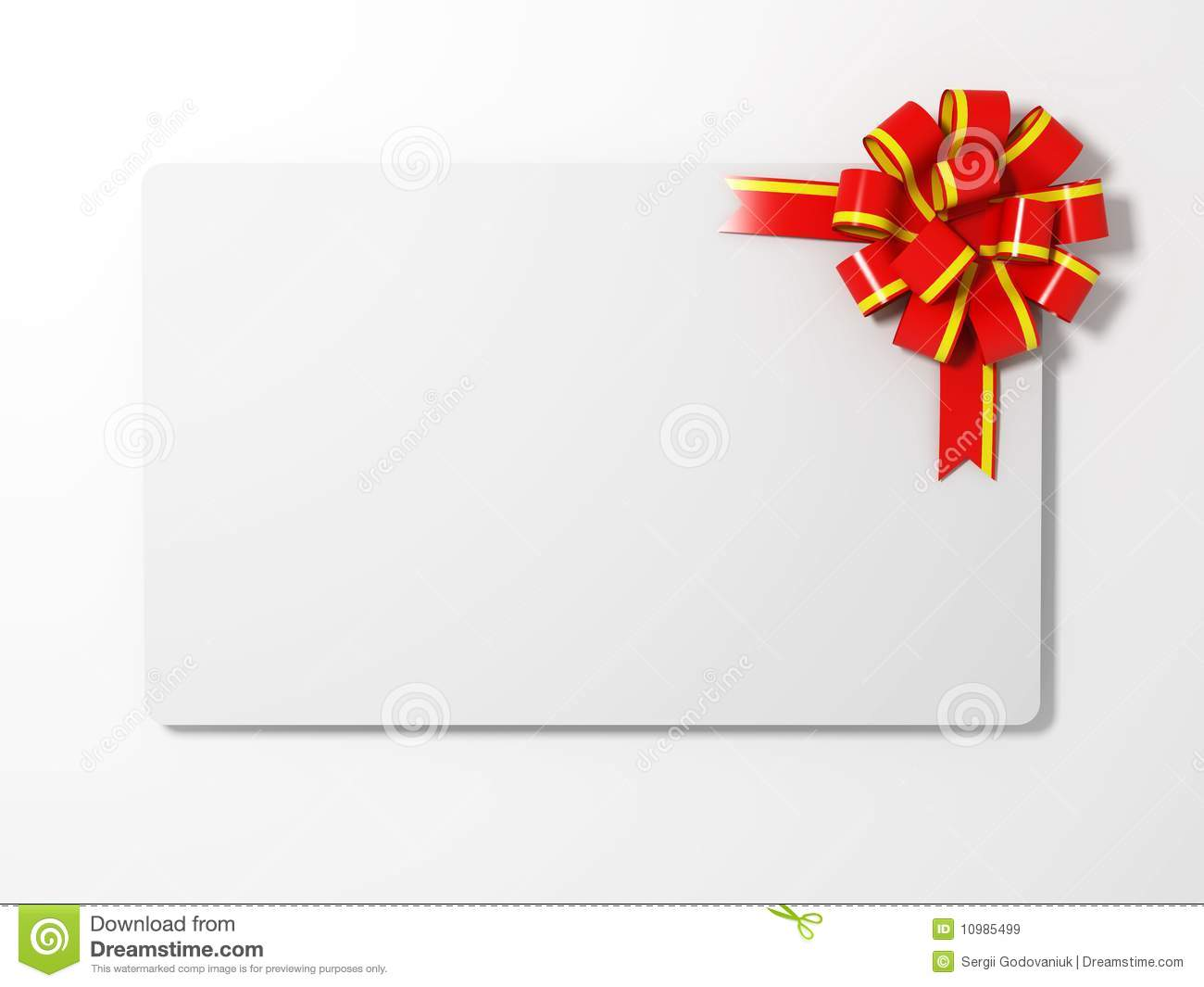 Blank Gift Card Royalty Free Stock Images - Image: 10985499