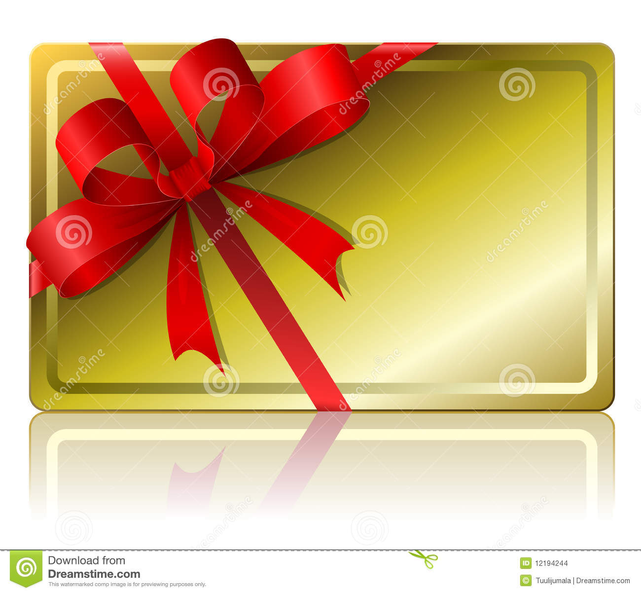 Blank Gift Card Stock Images - Image: 12194244