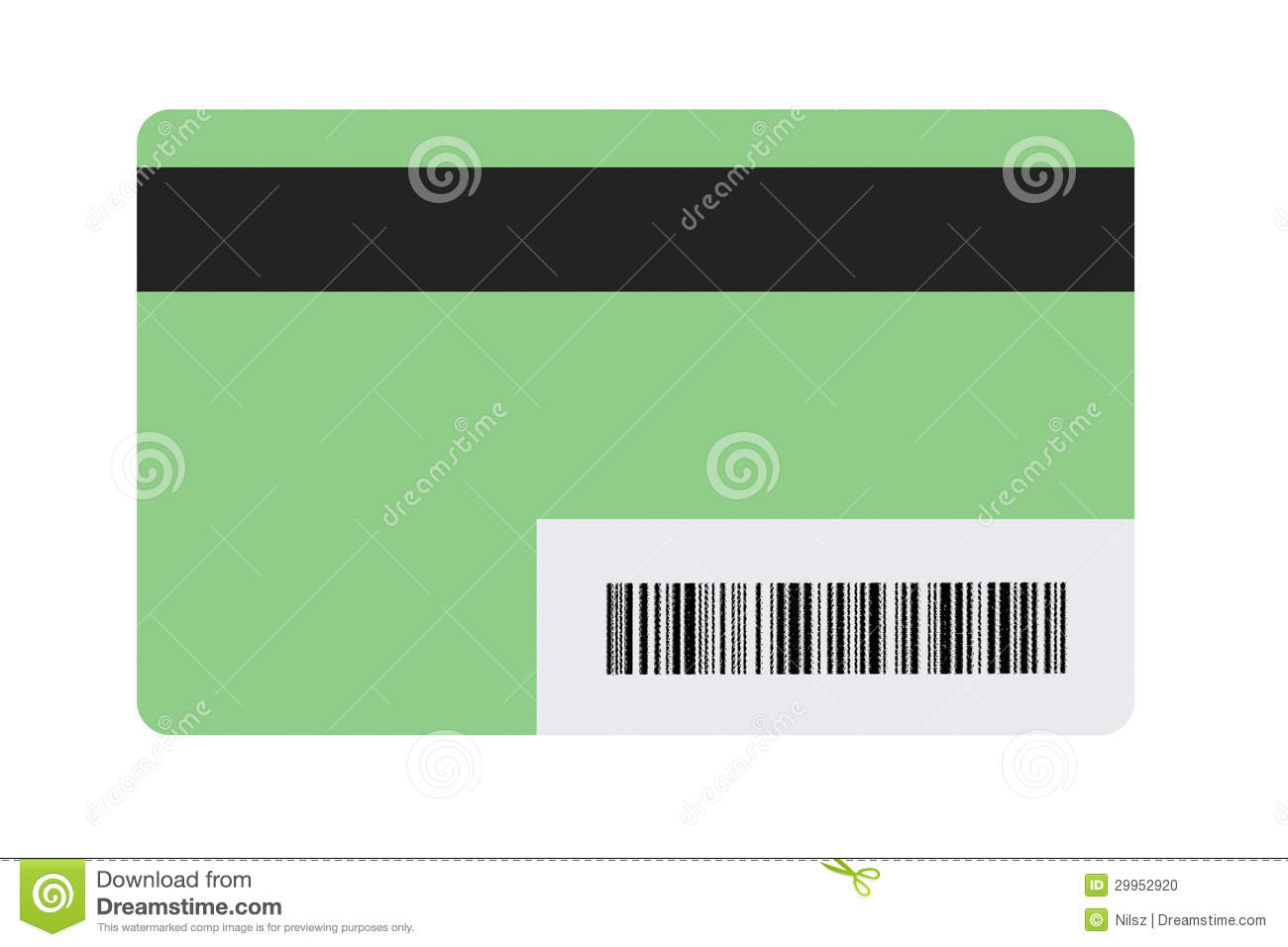 Blank gift card stock photo image of security debit 29952920 blank gift card negle Gallery