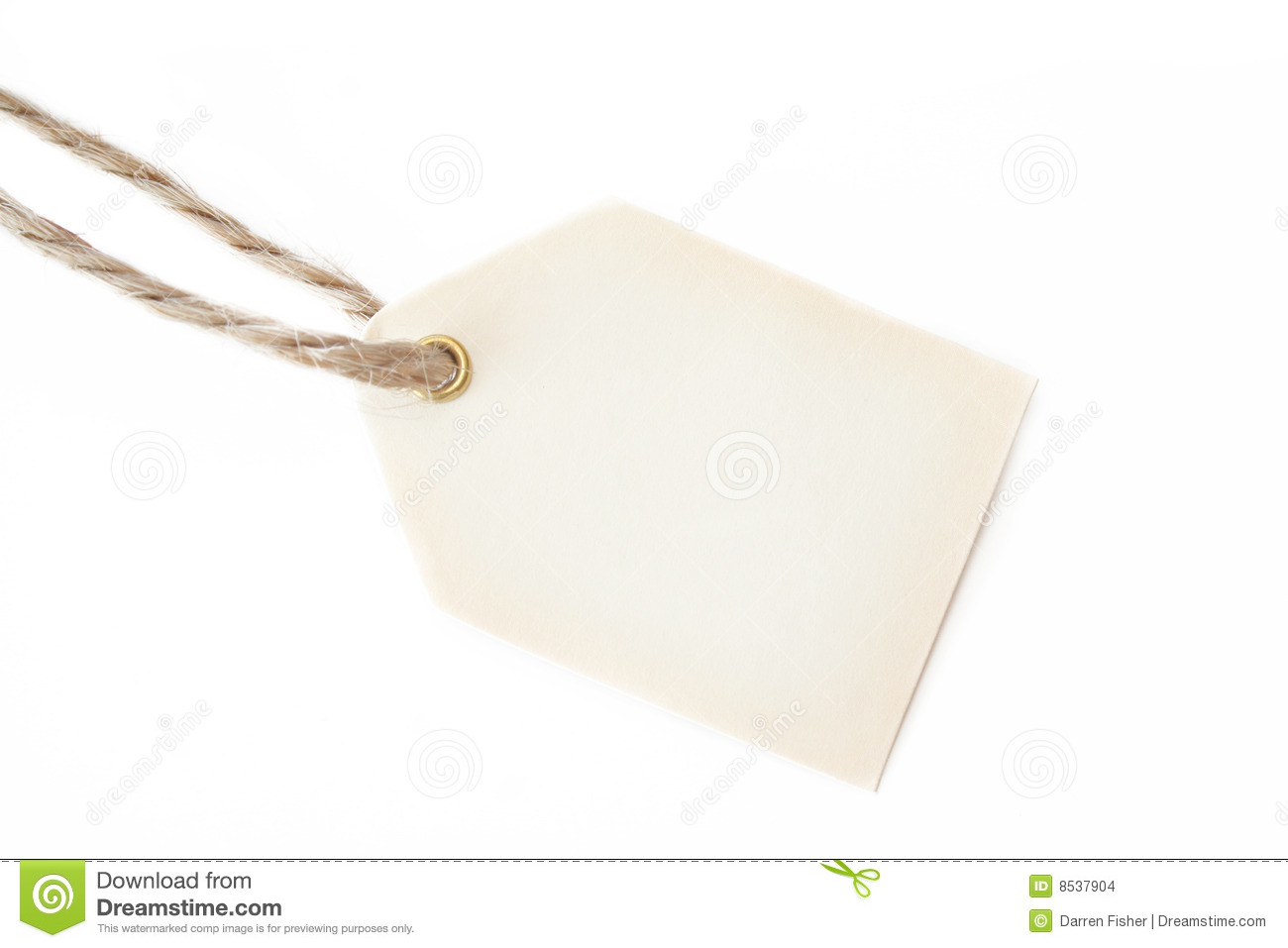 Blank Gift Tag And String Stock Images Image 8537904