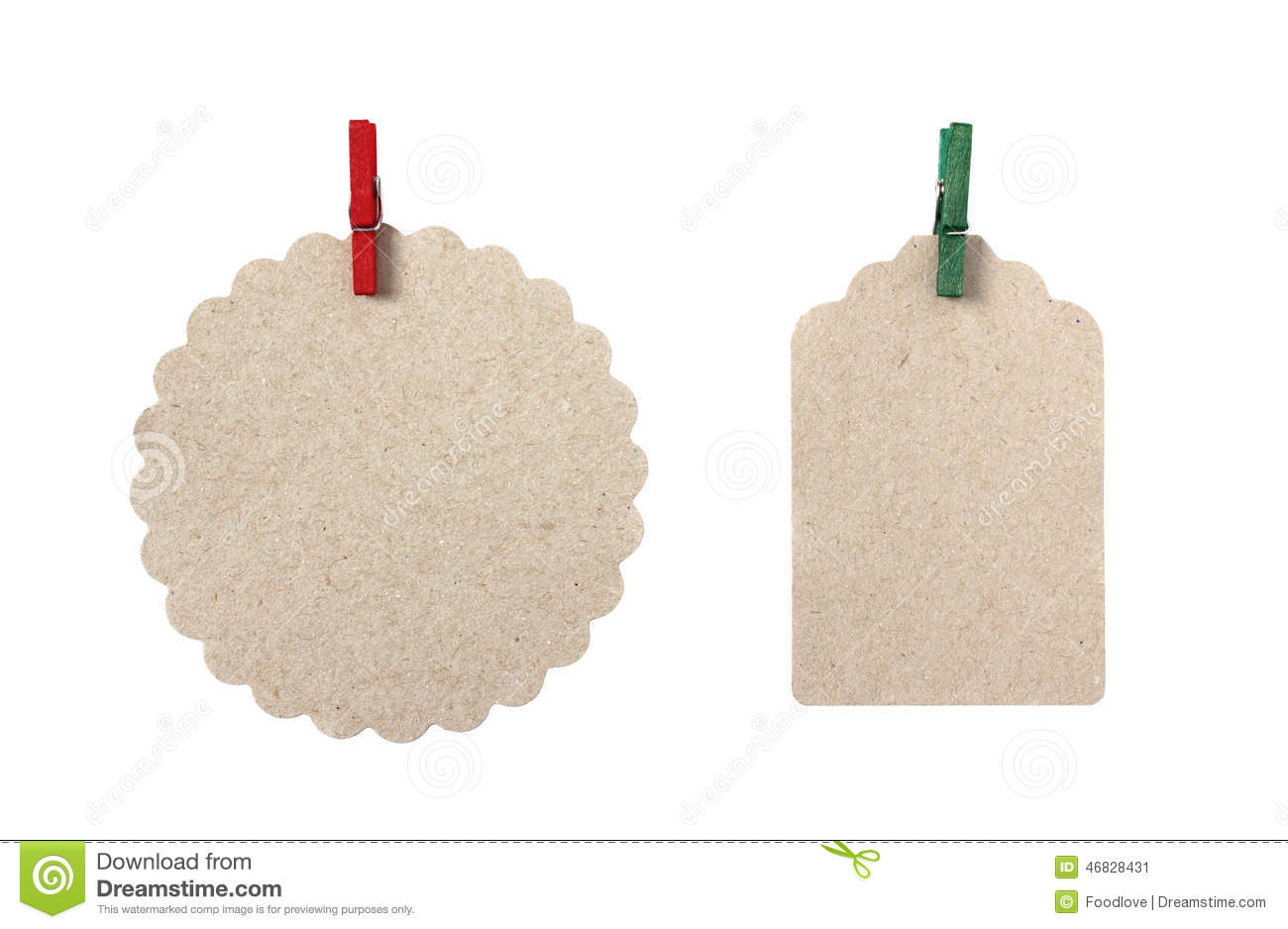 Blank Gift Tags In Different Shapes Stock Photo - Image: 46828431