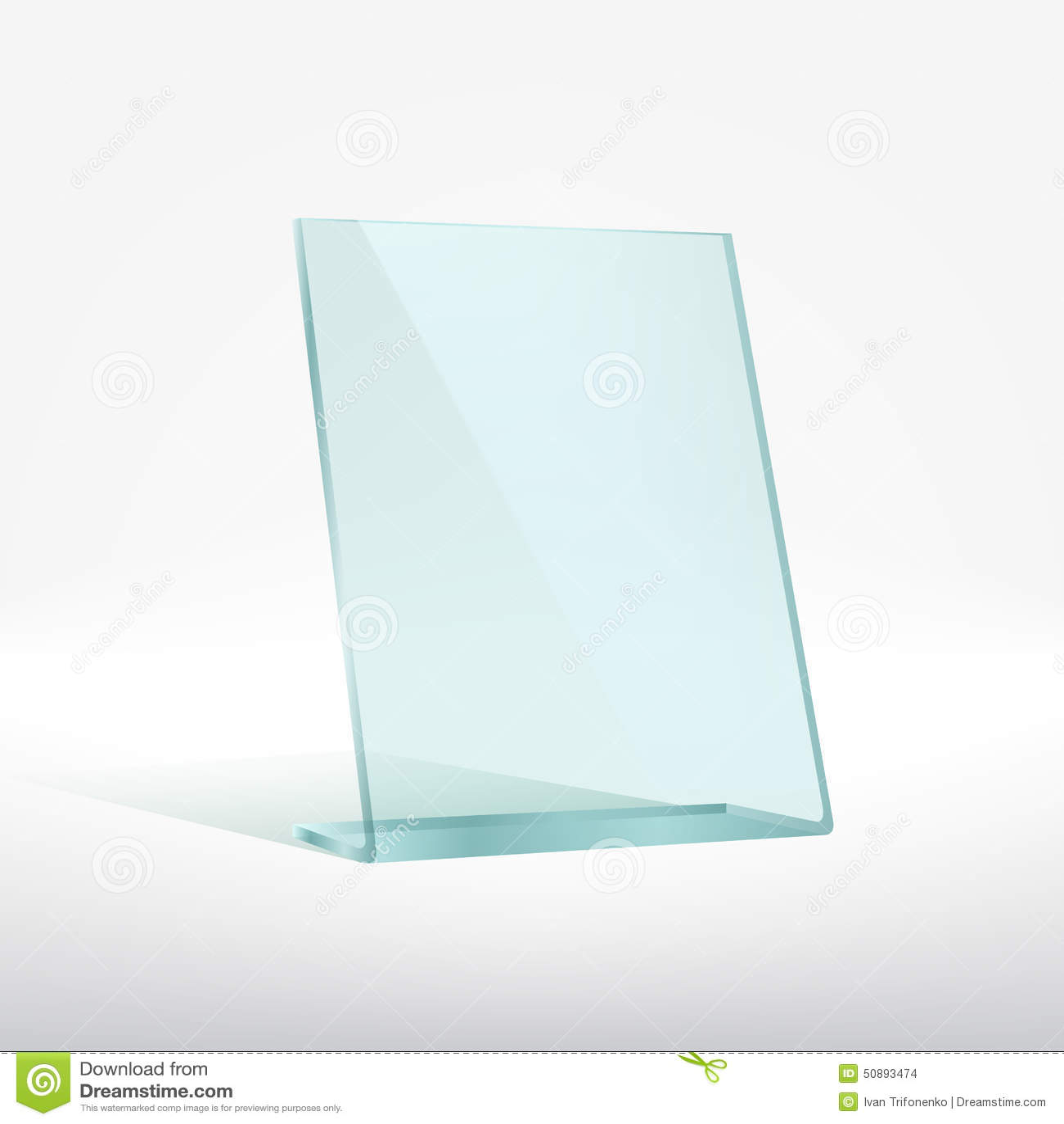 Blank glass award plate stock photo image 50893474 - Plaque de verre trempe ...