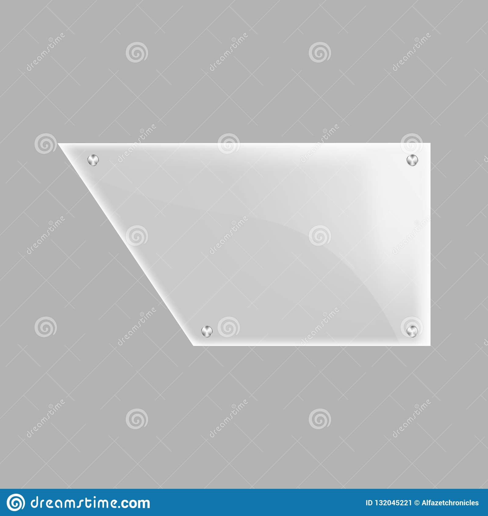 Blank Glass Plate Isolated Icon Stock Illustration