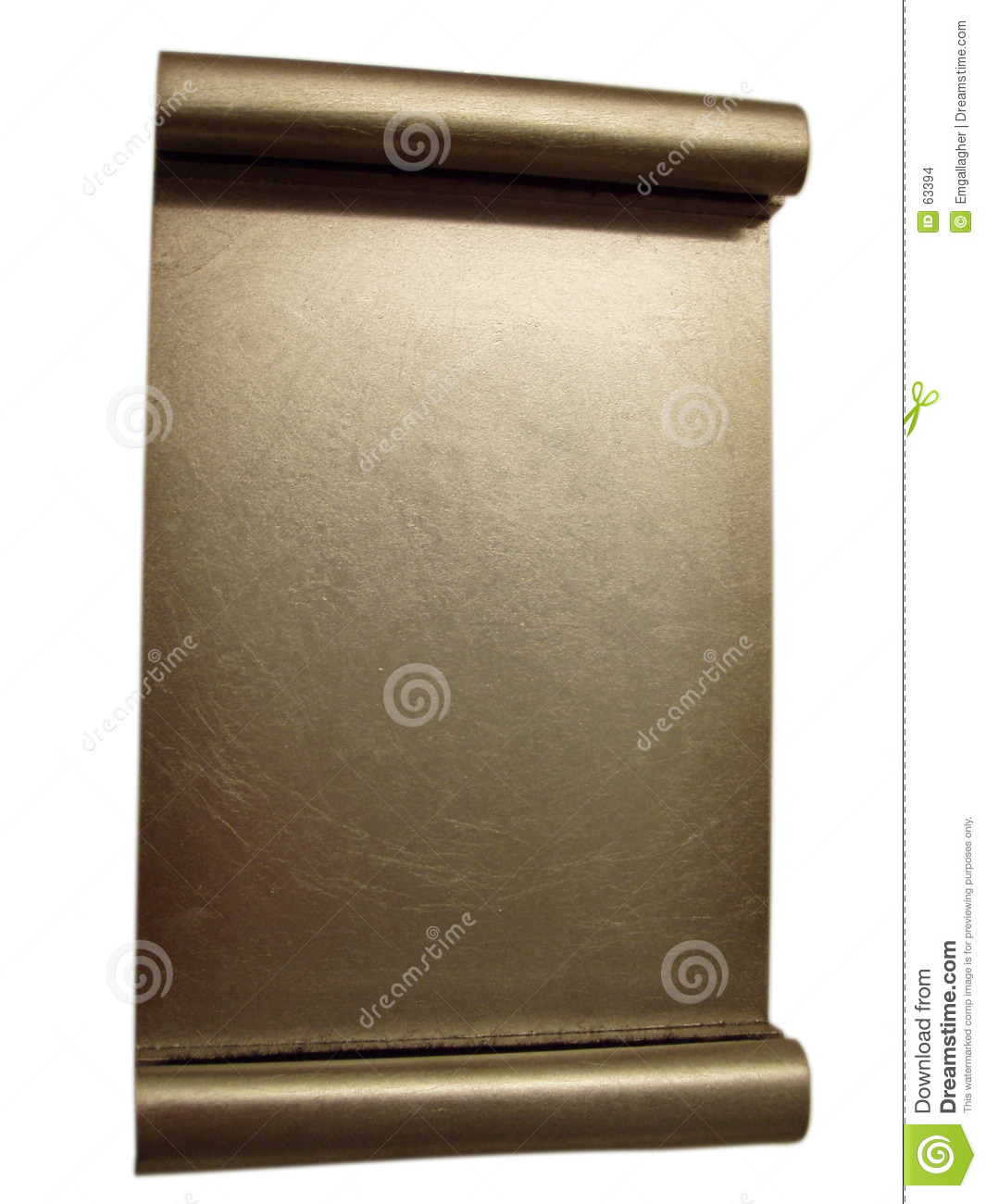 Blank gold award plaque - isolated