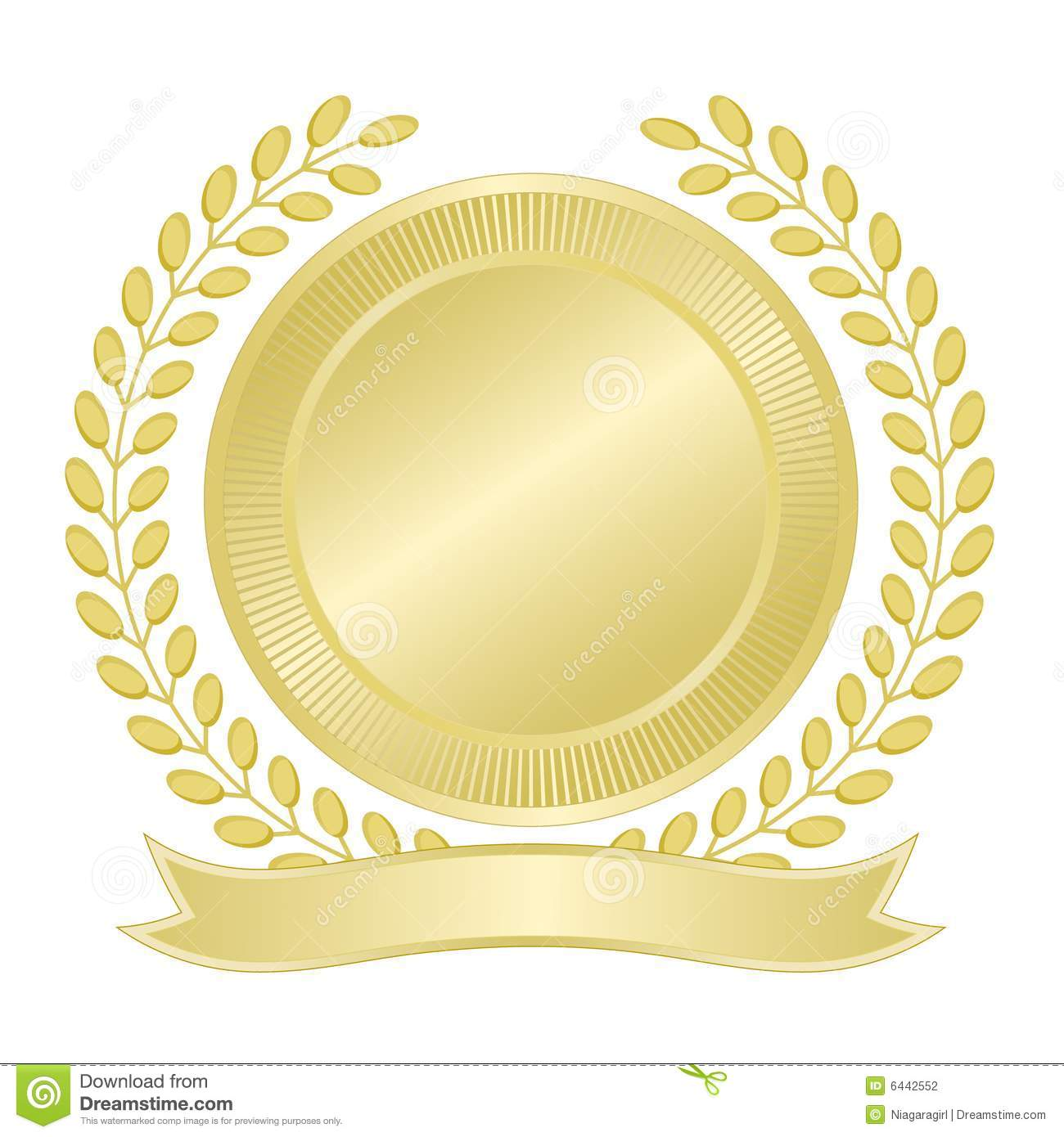 Blank Gold Seal Stock Vector Illustration Of Wreath