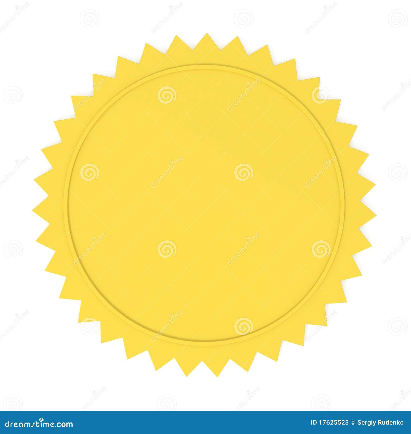 Blank Golden Seal Stock Photos Image 17625523