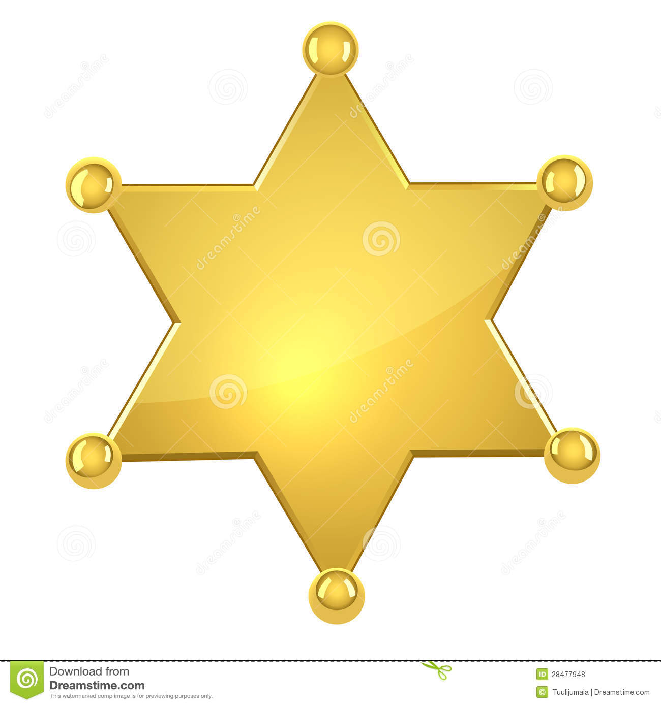Blank Golden Sheriff Star Royalty Free Stock Photos - Image: 28477948