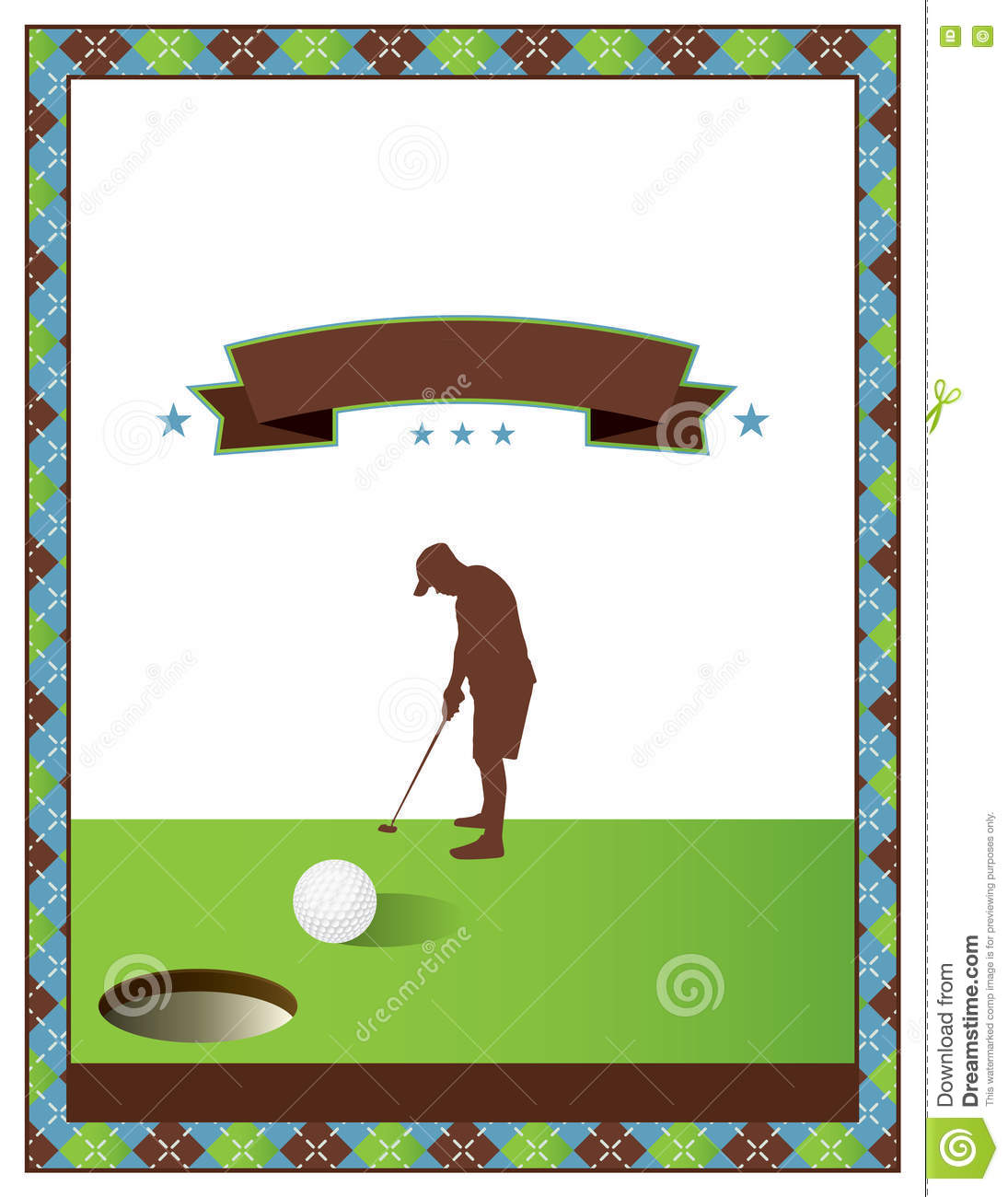 blank golf tournament flyer template stock vector illustration of