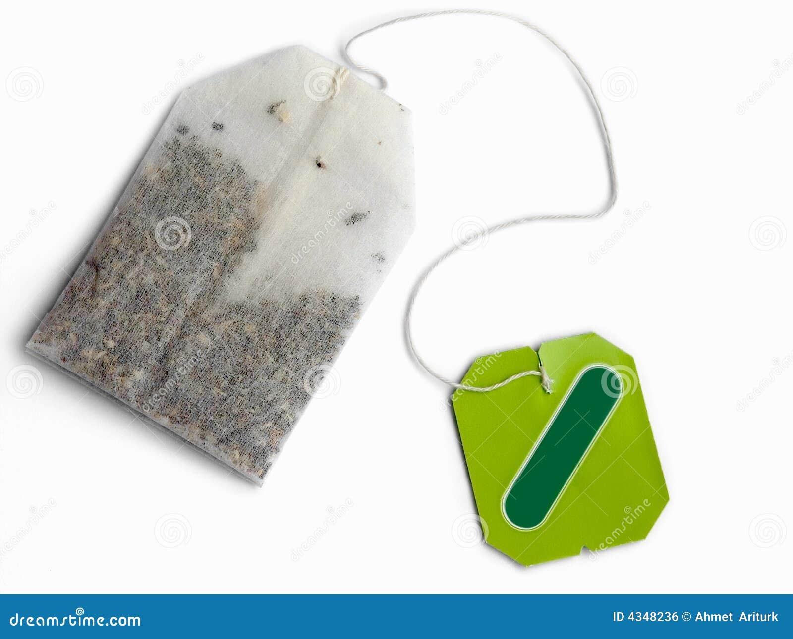 Blank grön etiketttea för påse