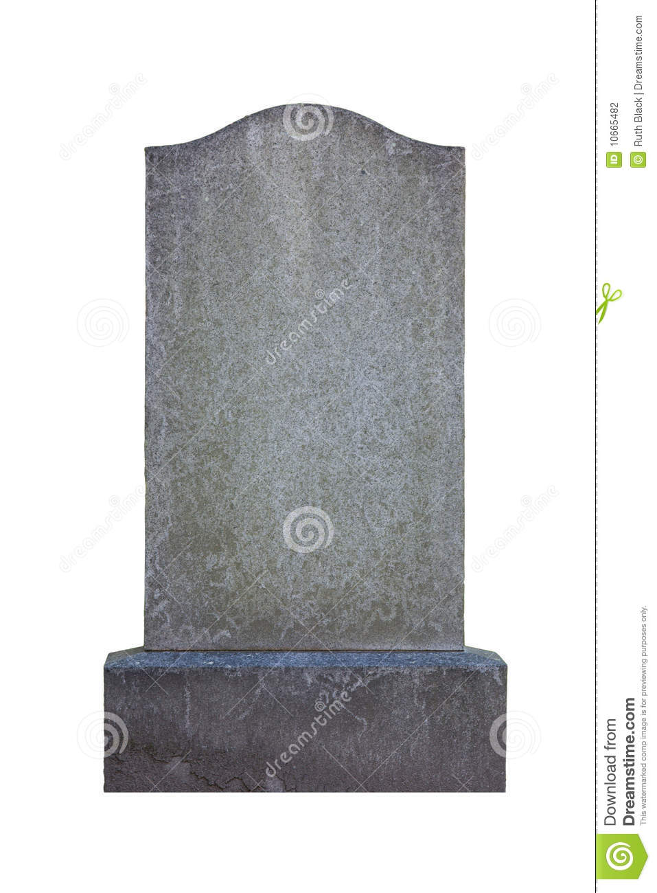 blank gravestone stock photo image of isolated monument