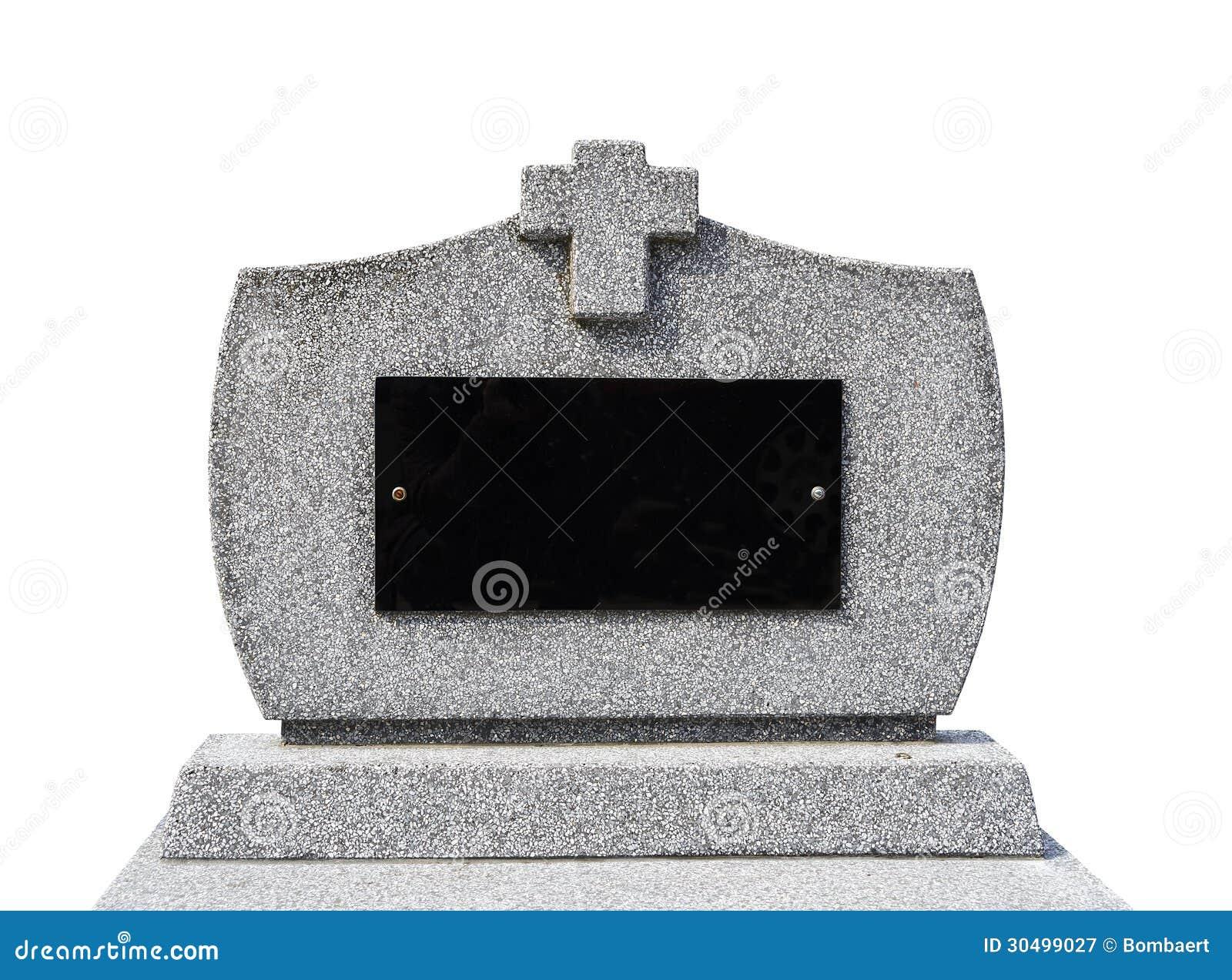 Blank gravestone I ( clipping path )