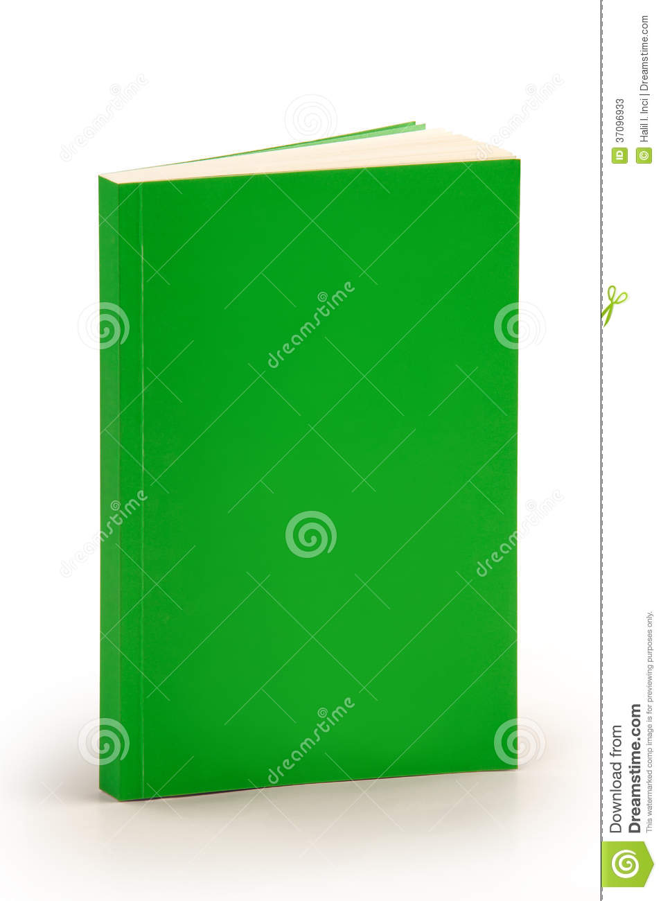 Cookbook With Green Cover : Blank green book cover with clipping path stock photos