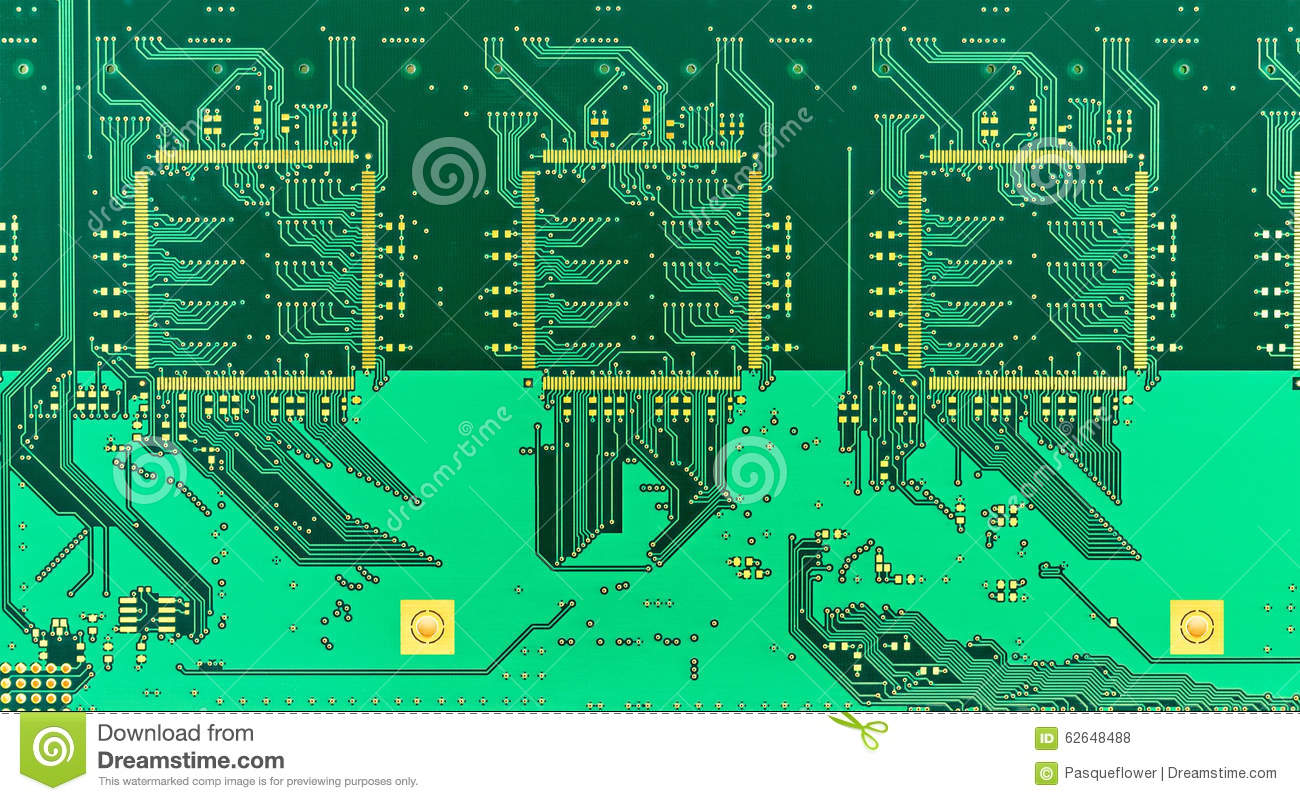 Silicon Circuit Printing Ask Answer Wiring Diagram Board Blank Green Printed Pcb Stock Photo Image 62648488 Photocell Microscopt