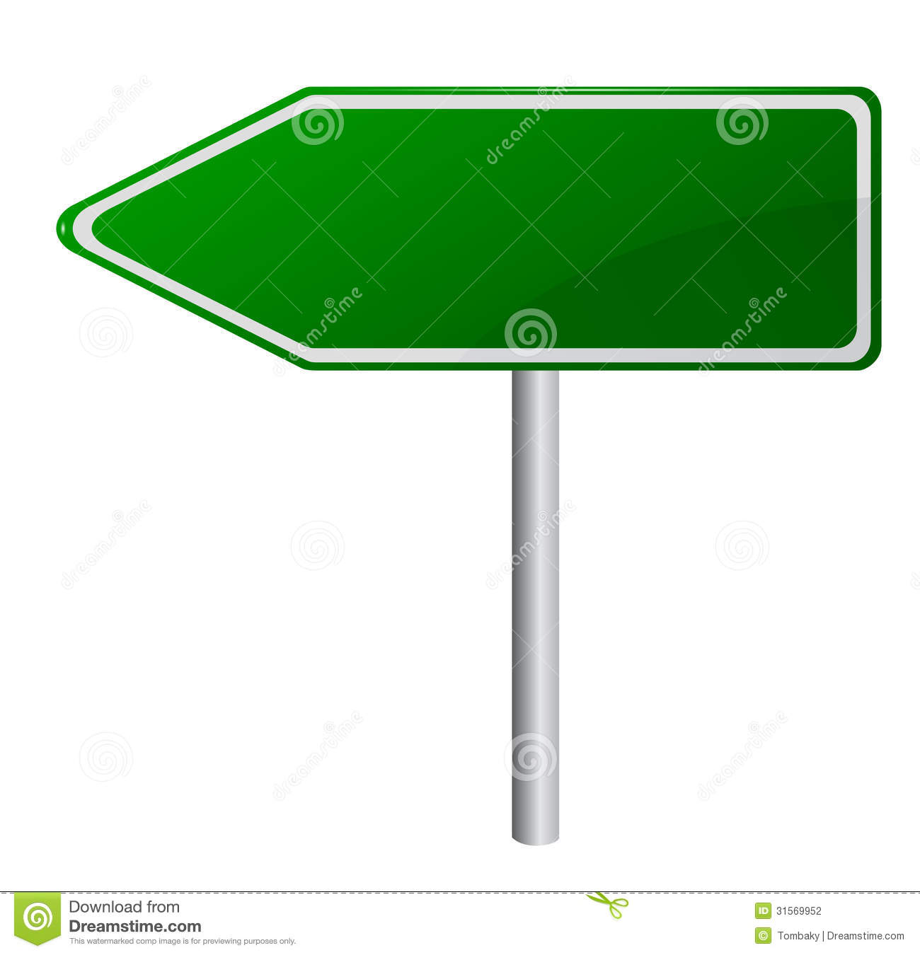 Blank Green Road Sign Stock Photography Image 31569952