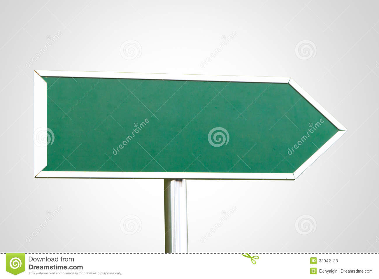 Blank Green Sign With Right Direction Stock Photo - Image ...