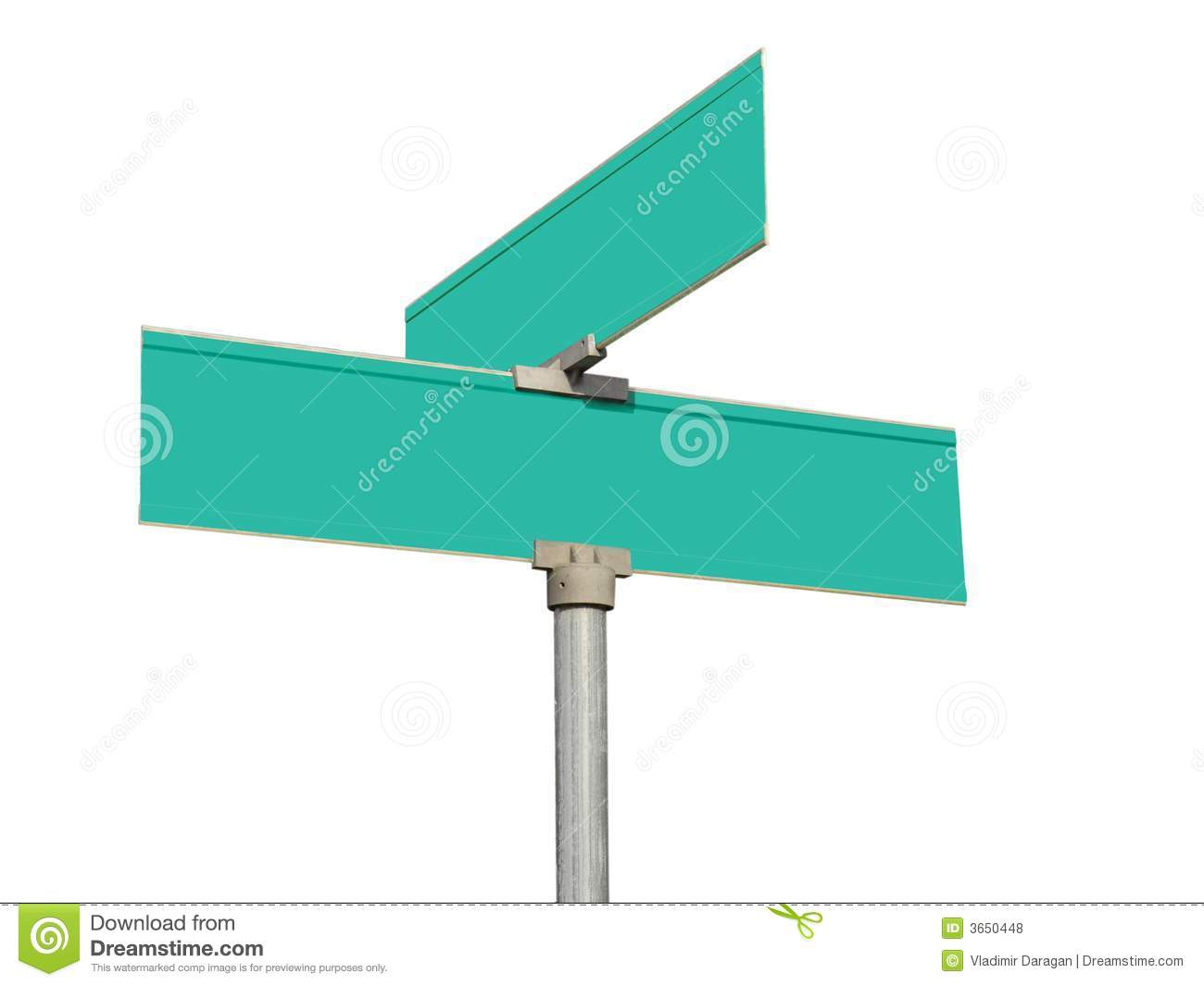 blank green street signs stock photo image of business