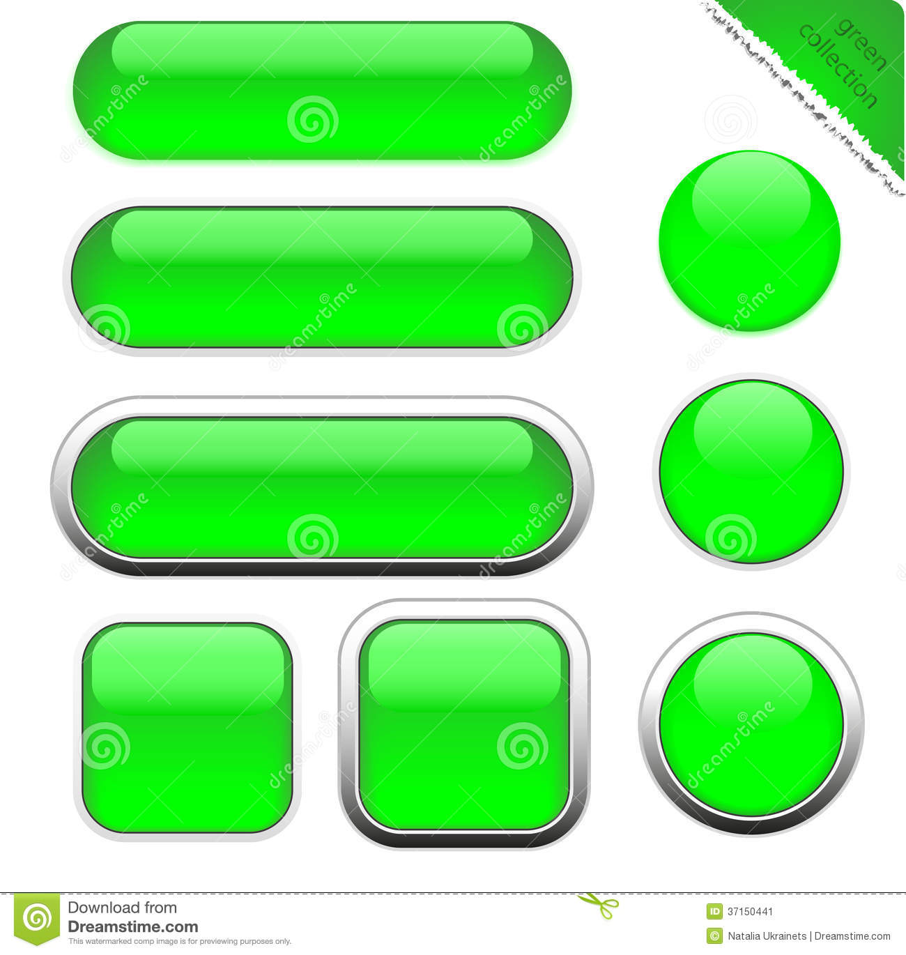 Blank Green Web Buttons Stock Image Image 37150441