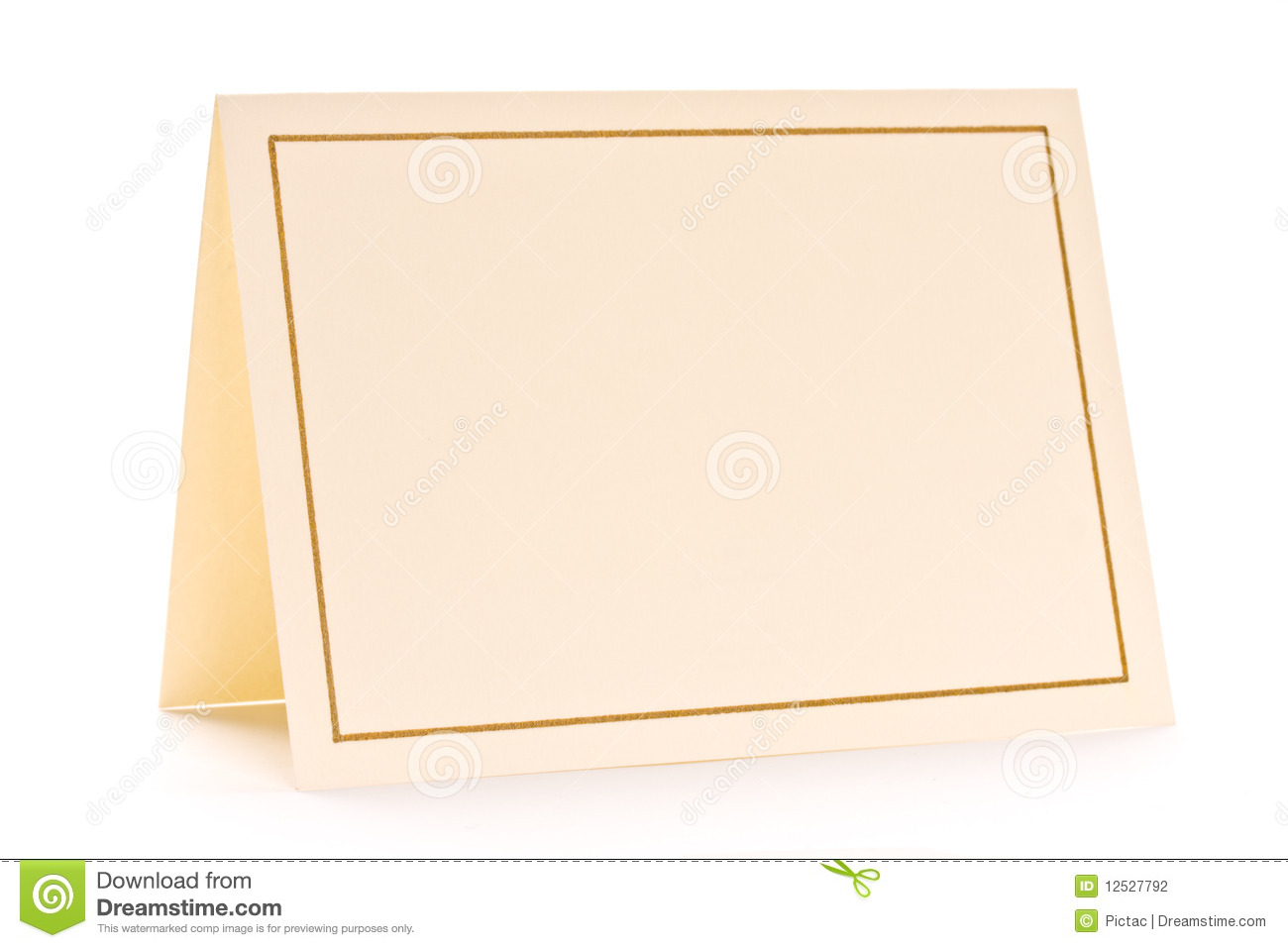 Blank greeting card stock photo. Image of blank, message ...